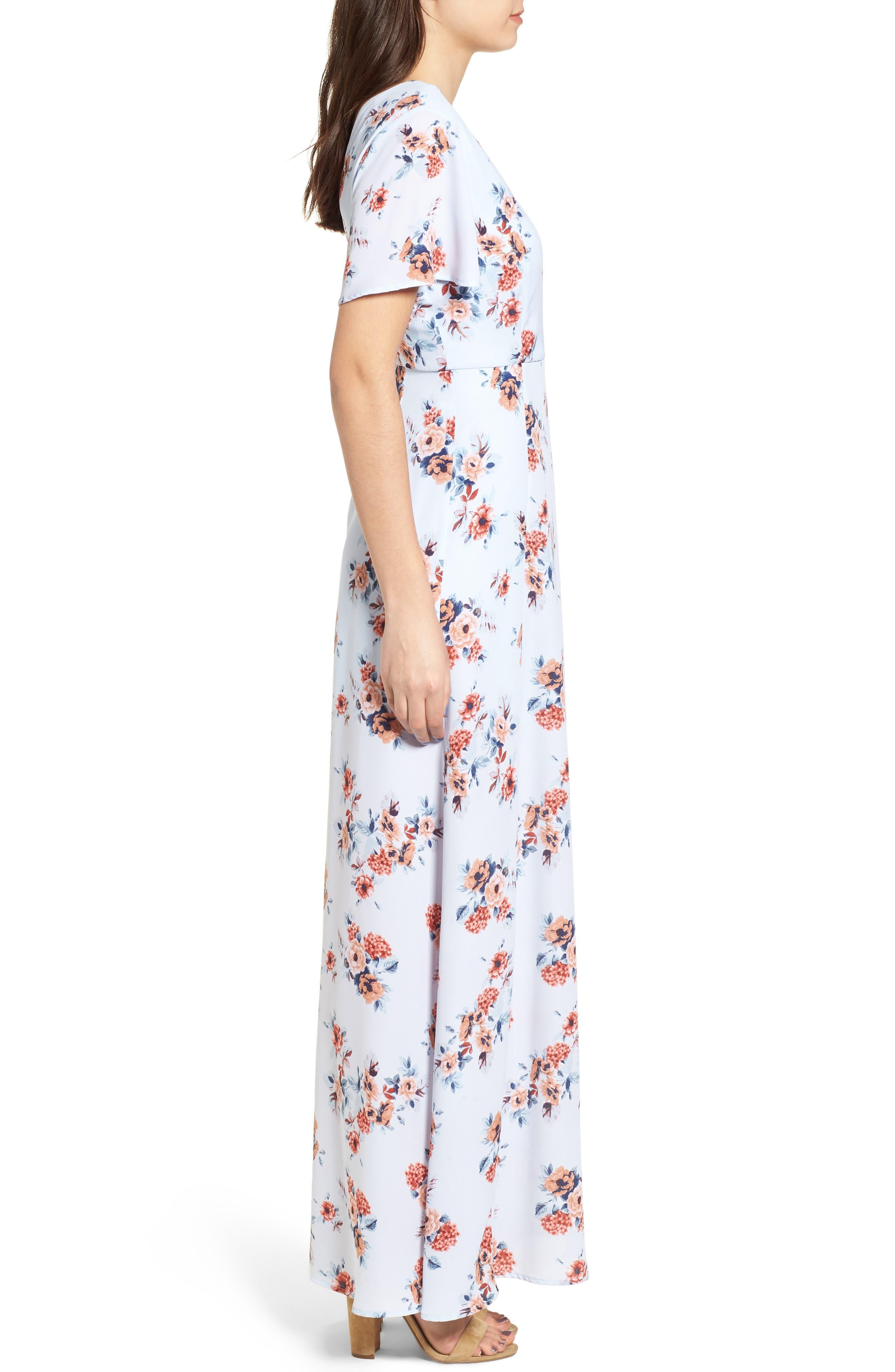 Alternate Image 3  - Dee Elly Floral Maxi Dress
