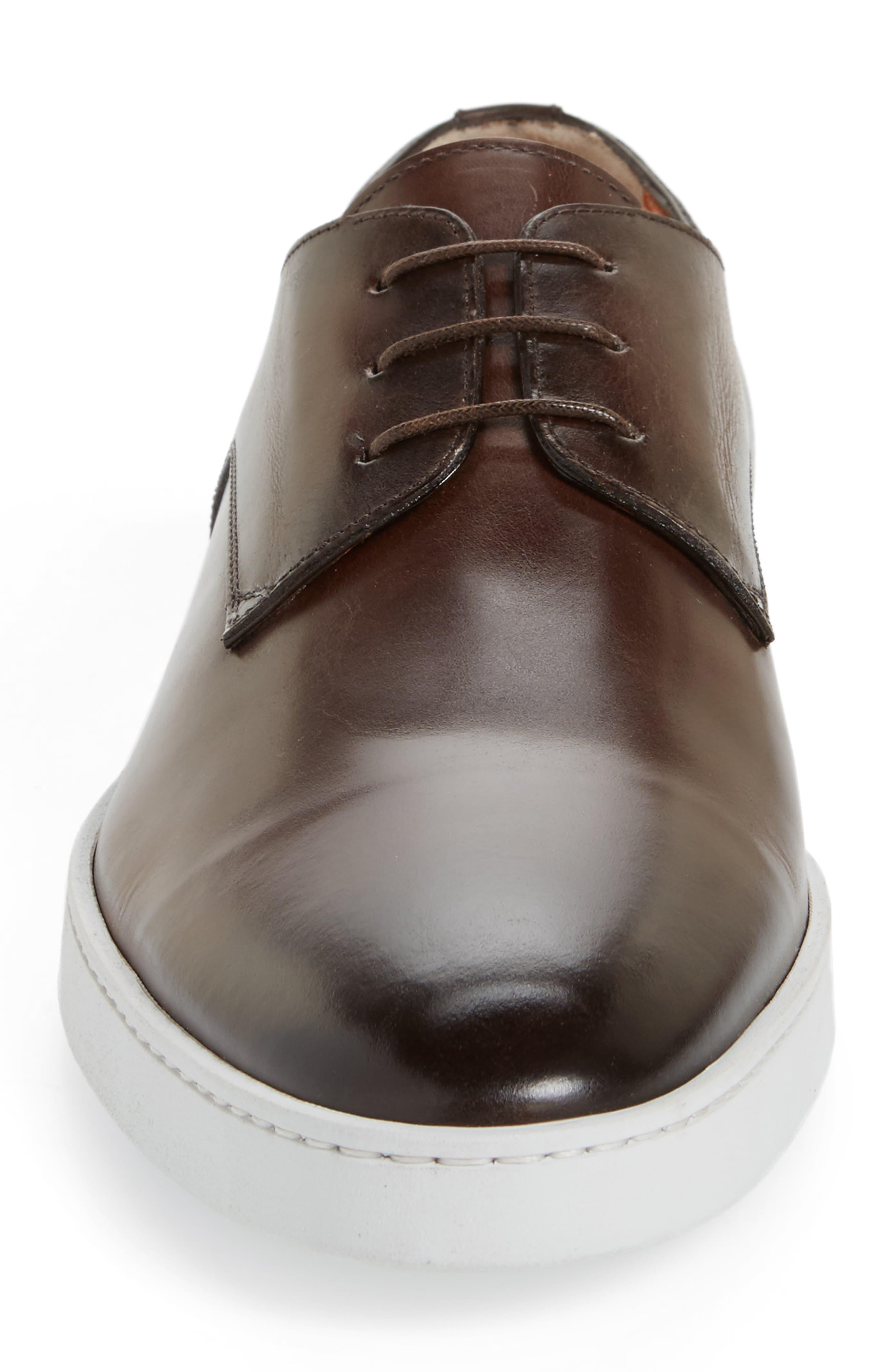 Doyle Plain Toe Derby,                             Alternate thumbnail 4, color,                             Brown