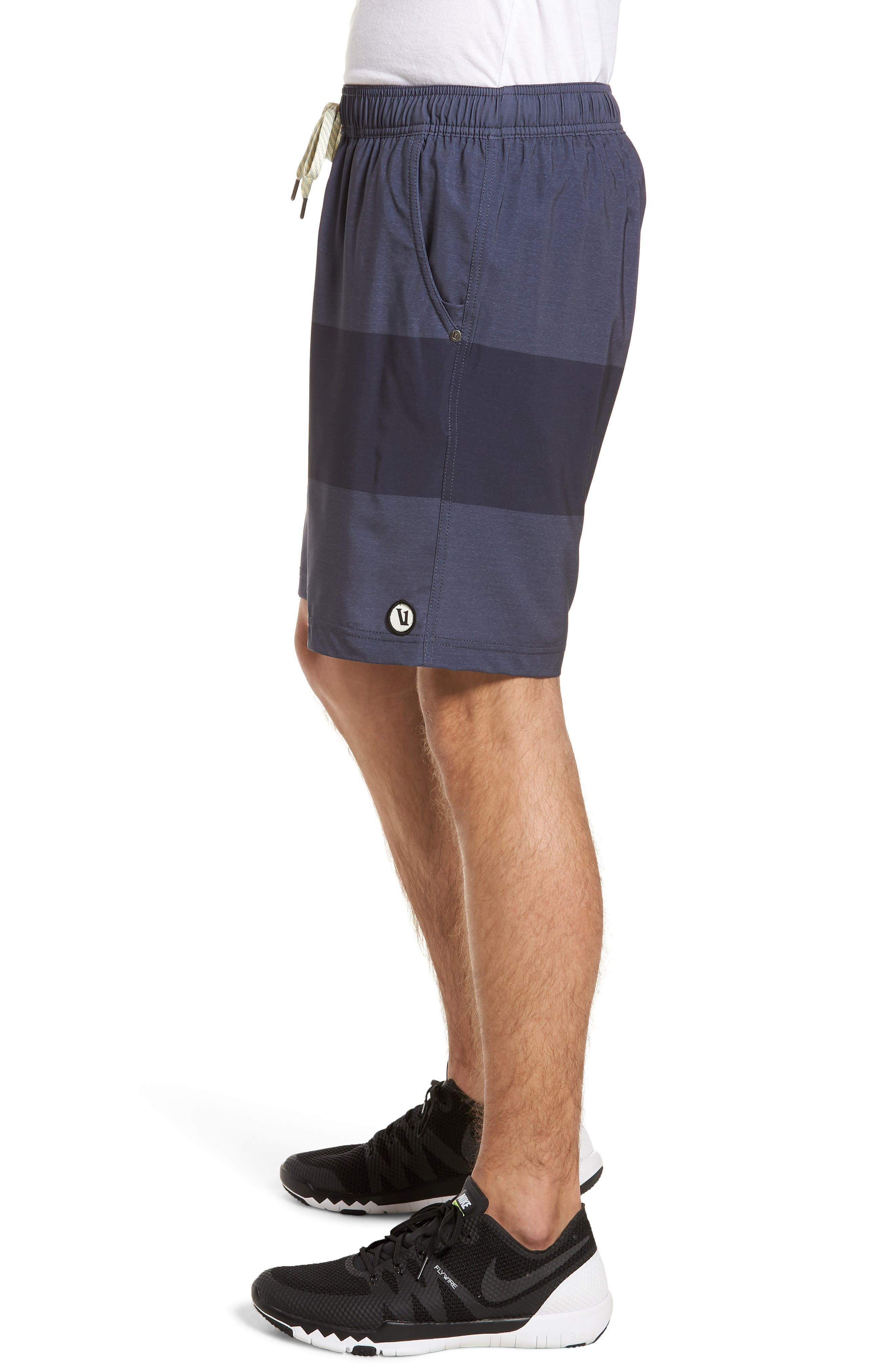 Kore Shorts,                             Alternate thumbnail 3, color,                             Navy Texture Block