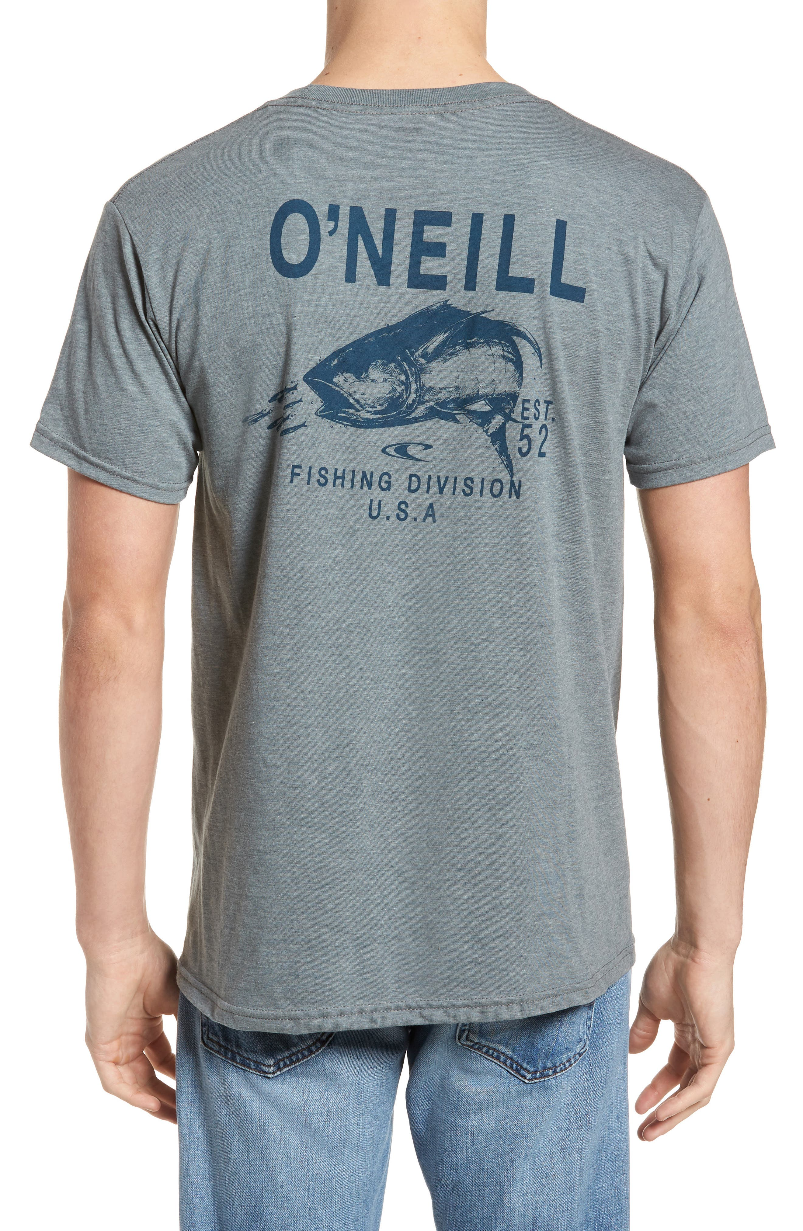 Fish Division Graphic T-Shirt,                             Alternate thumbnail 2, color,                             Medium Heather Grey