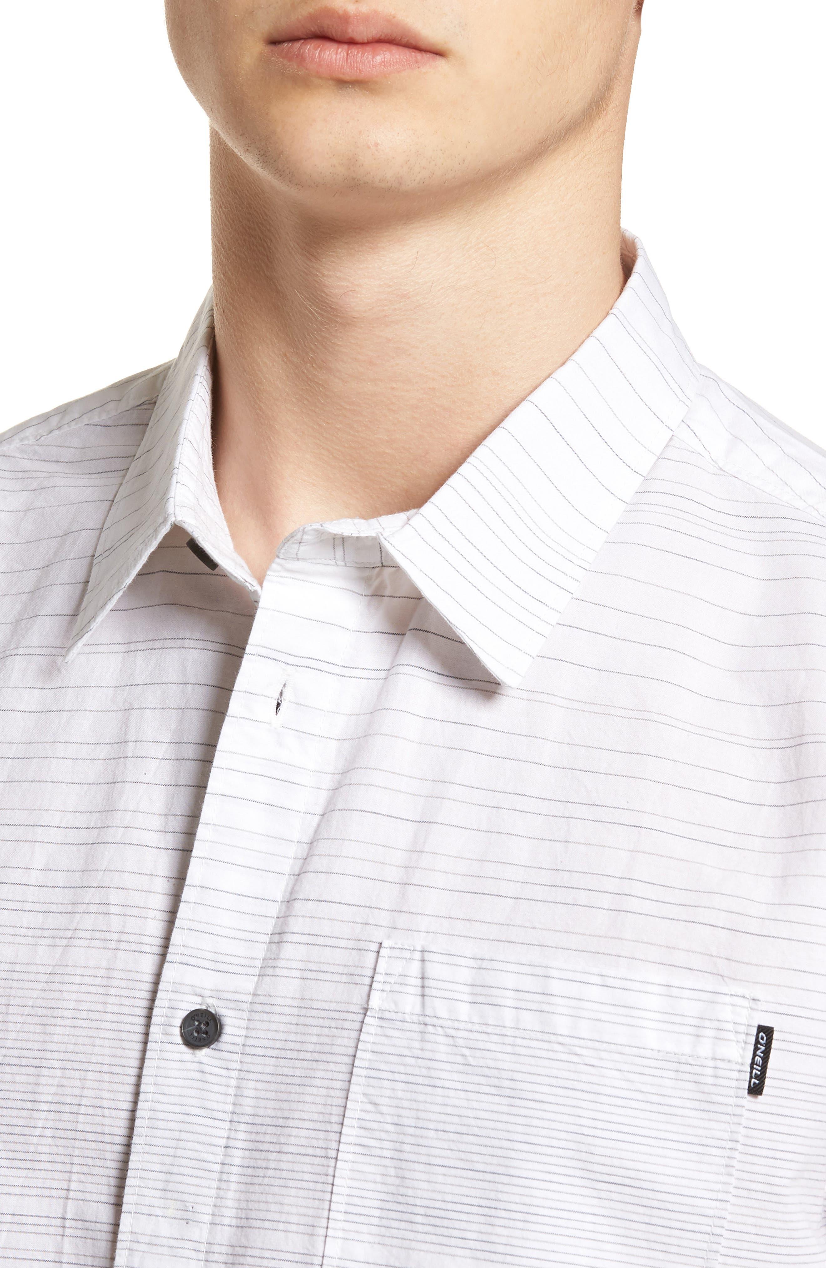 Hound Woven Shirt,                             Alternate thumbnail 4, color,                             White