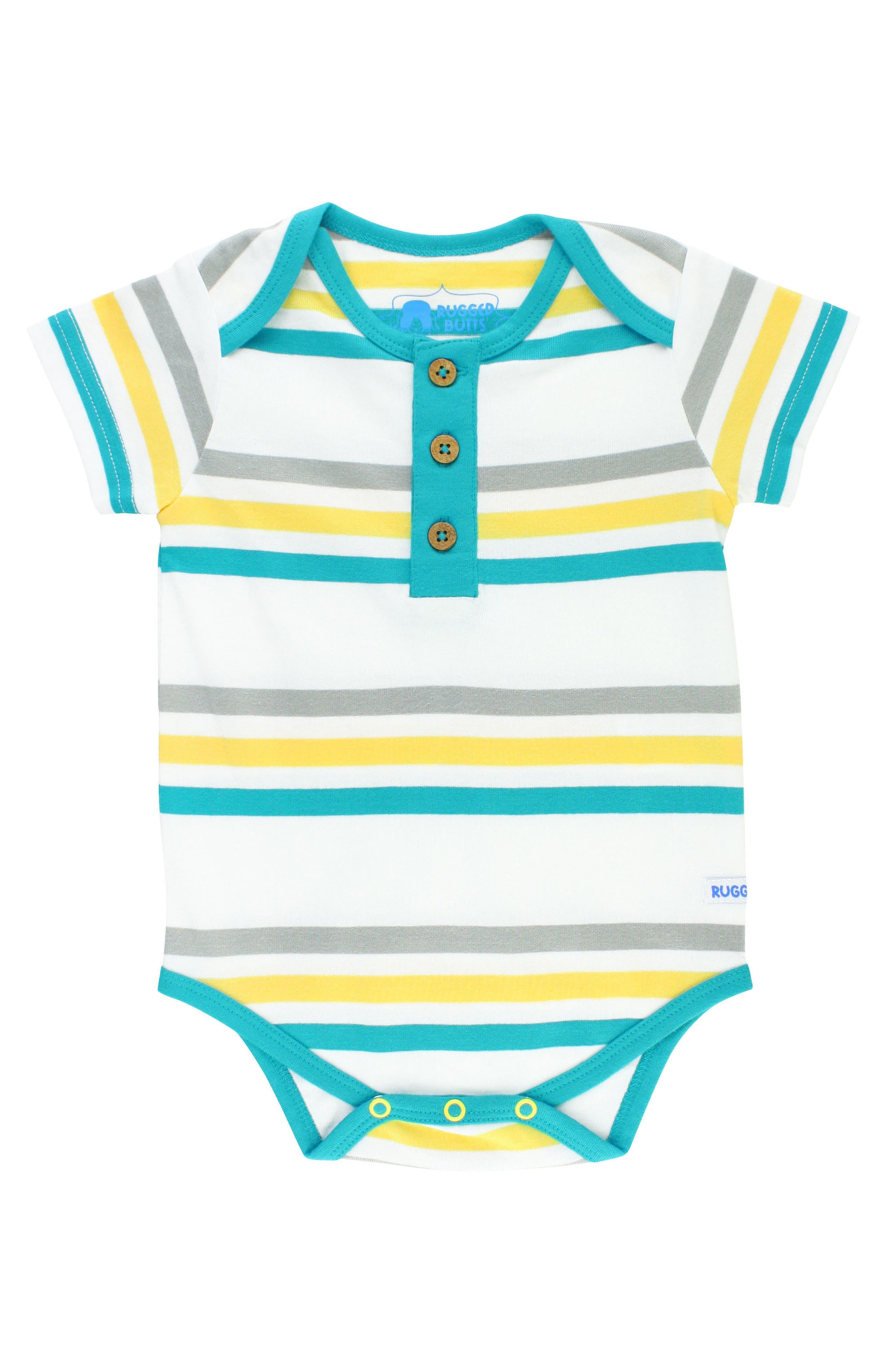 RuggedButts Key West Stripe Bodysuit (Baby Boys)