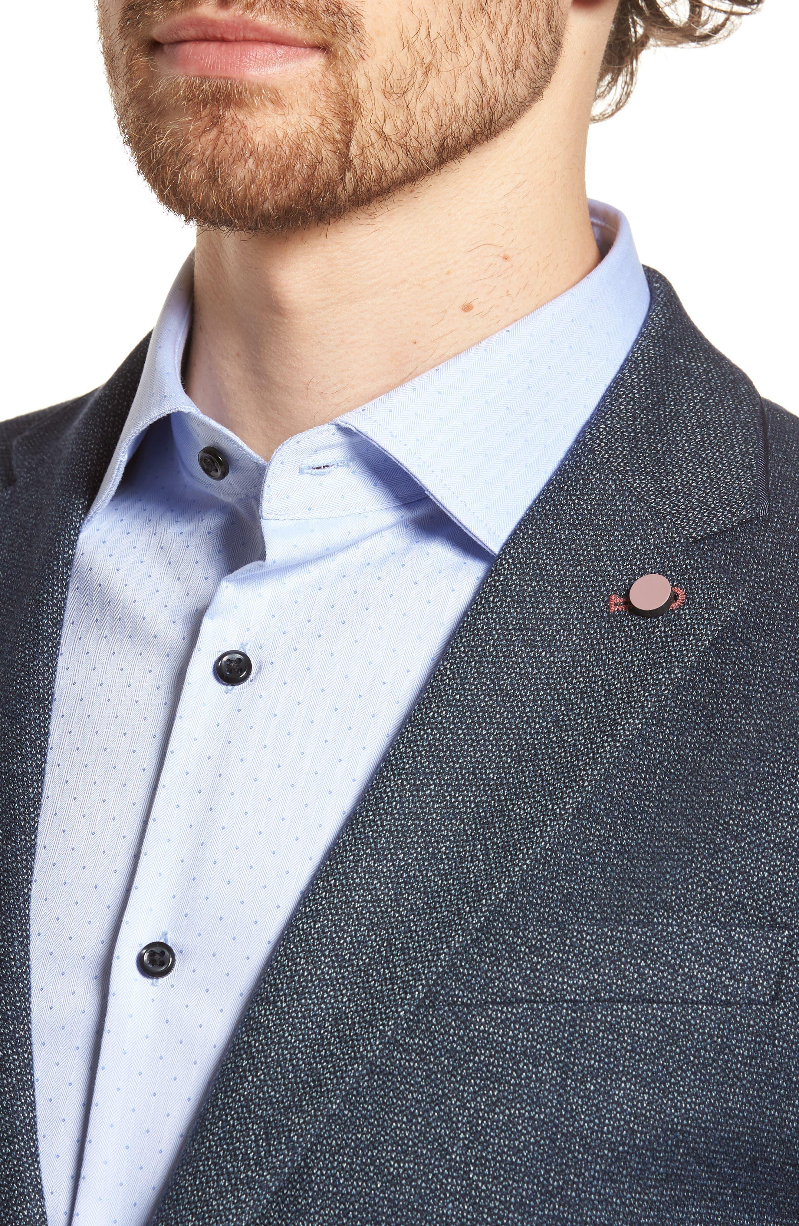Alternate Image 4  - Ted Baker London Burke Semi Plain Trim Fit Jacket