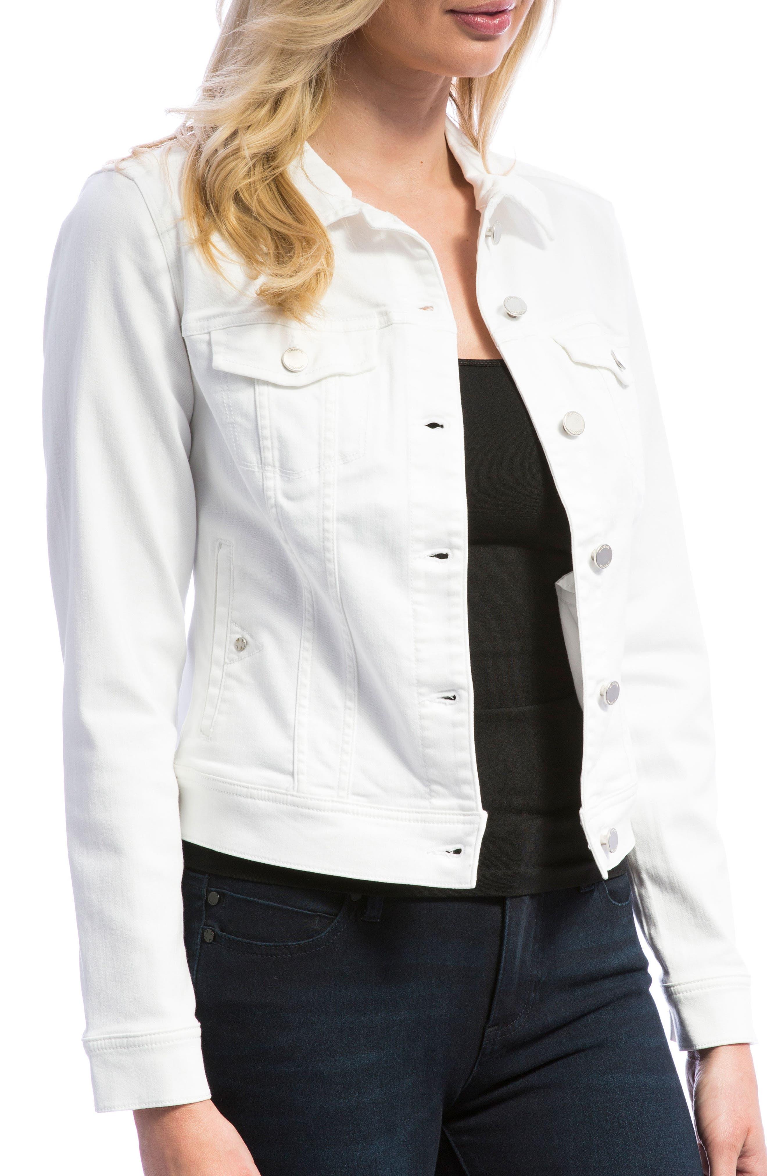 Denim Jacket,                             Alternate thumbnail 4, color,                             Bright White