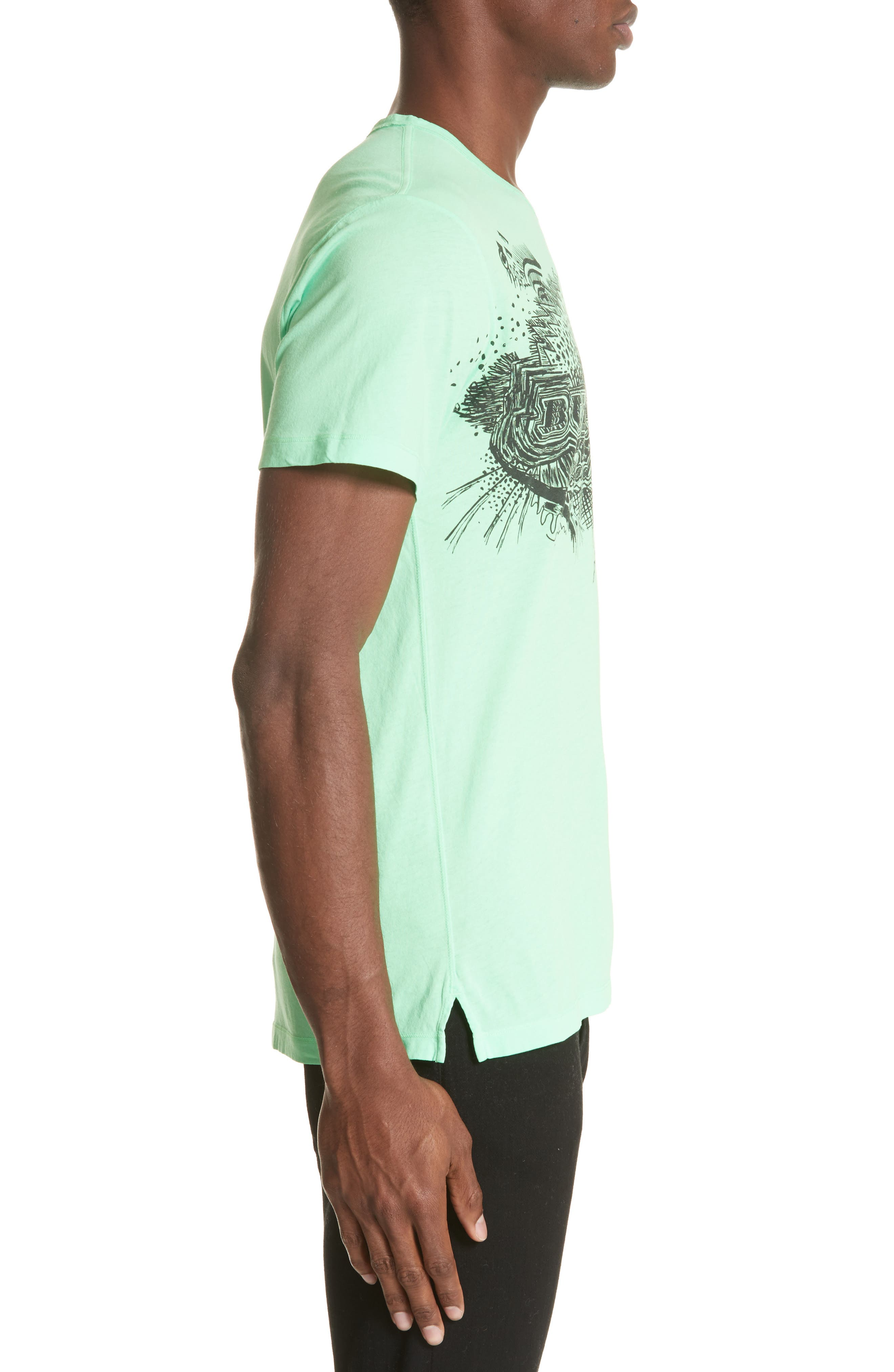 M Biles Standard Fit Graphic Tee,                             Alternate thumbnail 3, color,                             Bright Apple Green