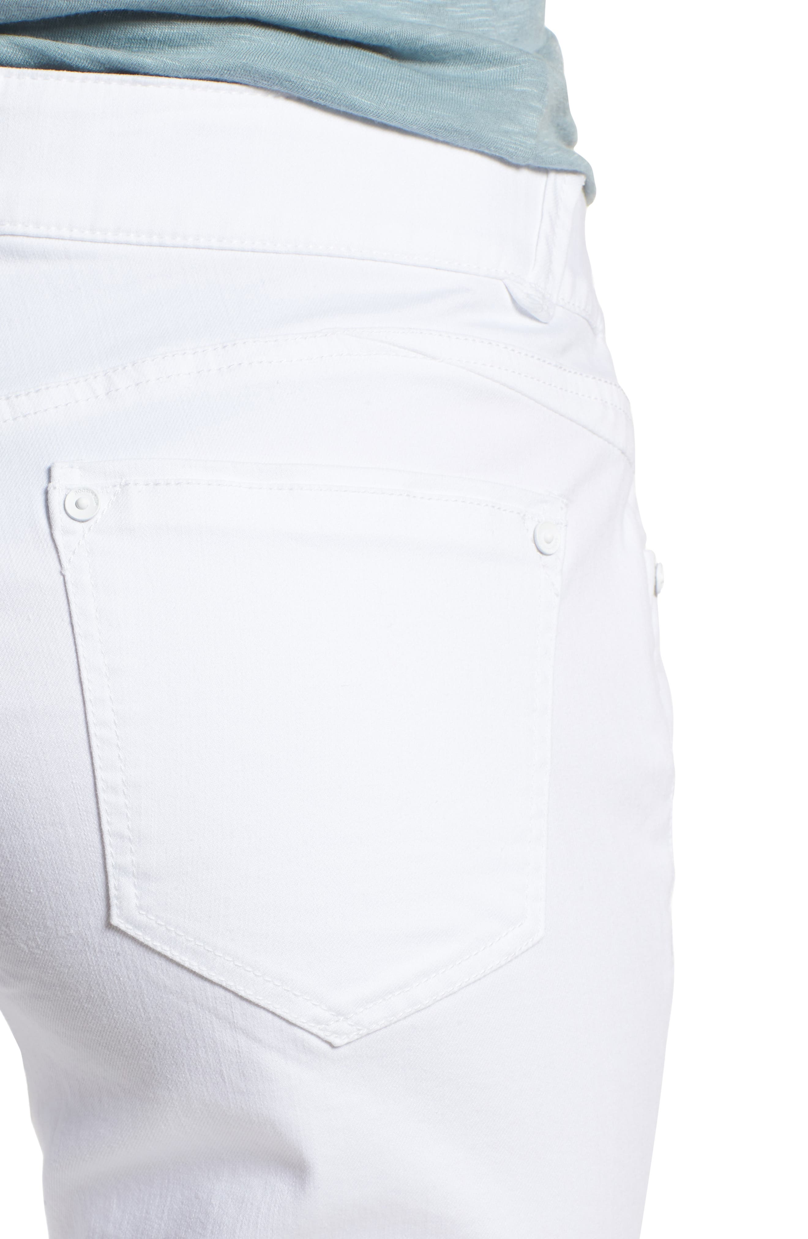 Alternate Image 4  - Wit & Wisdom Ab-solution White Bermuda Shorts (Nordstrom Exclusive)
