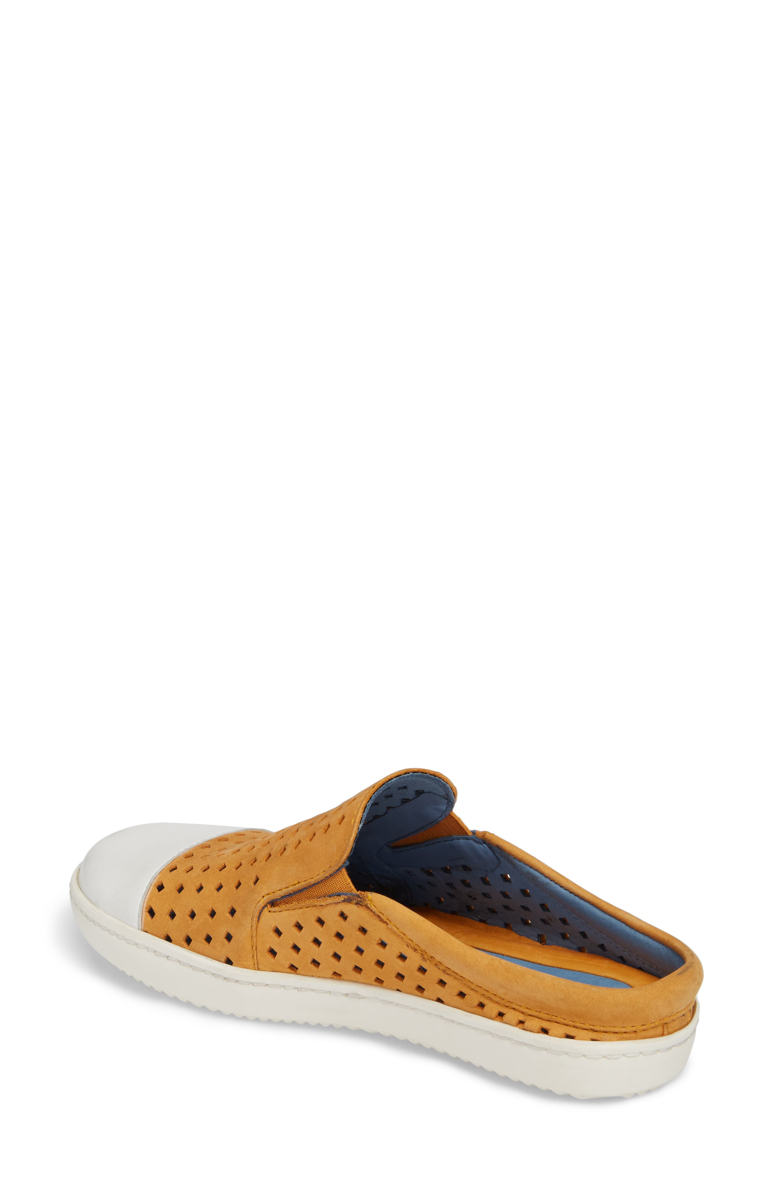 Tippy Slip-On Sneaker,                             Alternate thumbnail 2, color,                             Saffon Suede