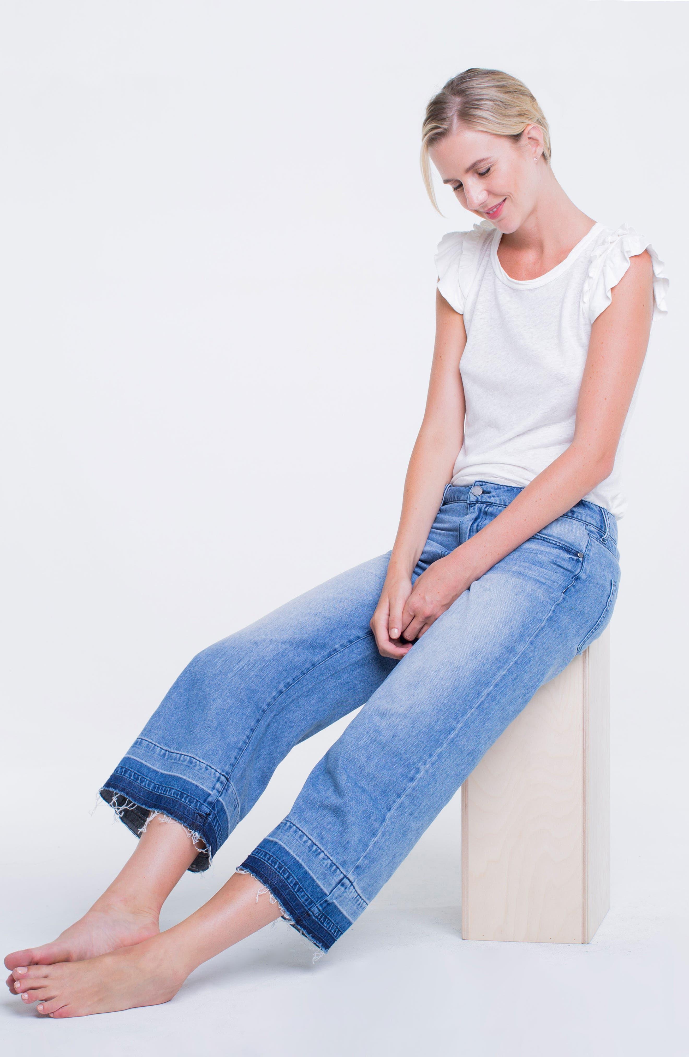 Release Hem Wide Crop Jeans,                             Alternate thumbnail 2, color,                             Denmark Grind