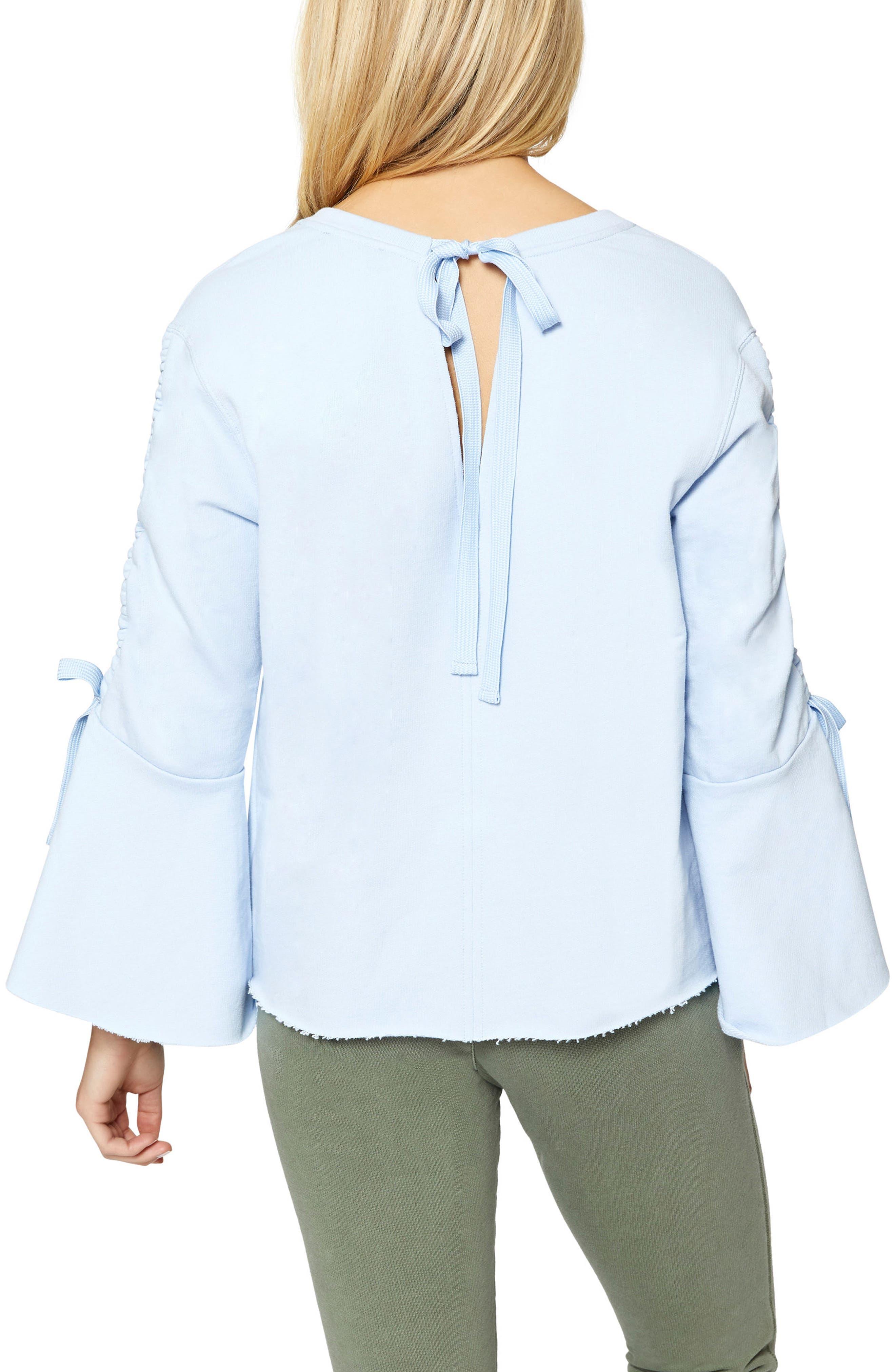 Alternate Image 2  - Sanctuary Upper West Bell Sleeve Sweatshirt