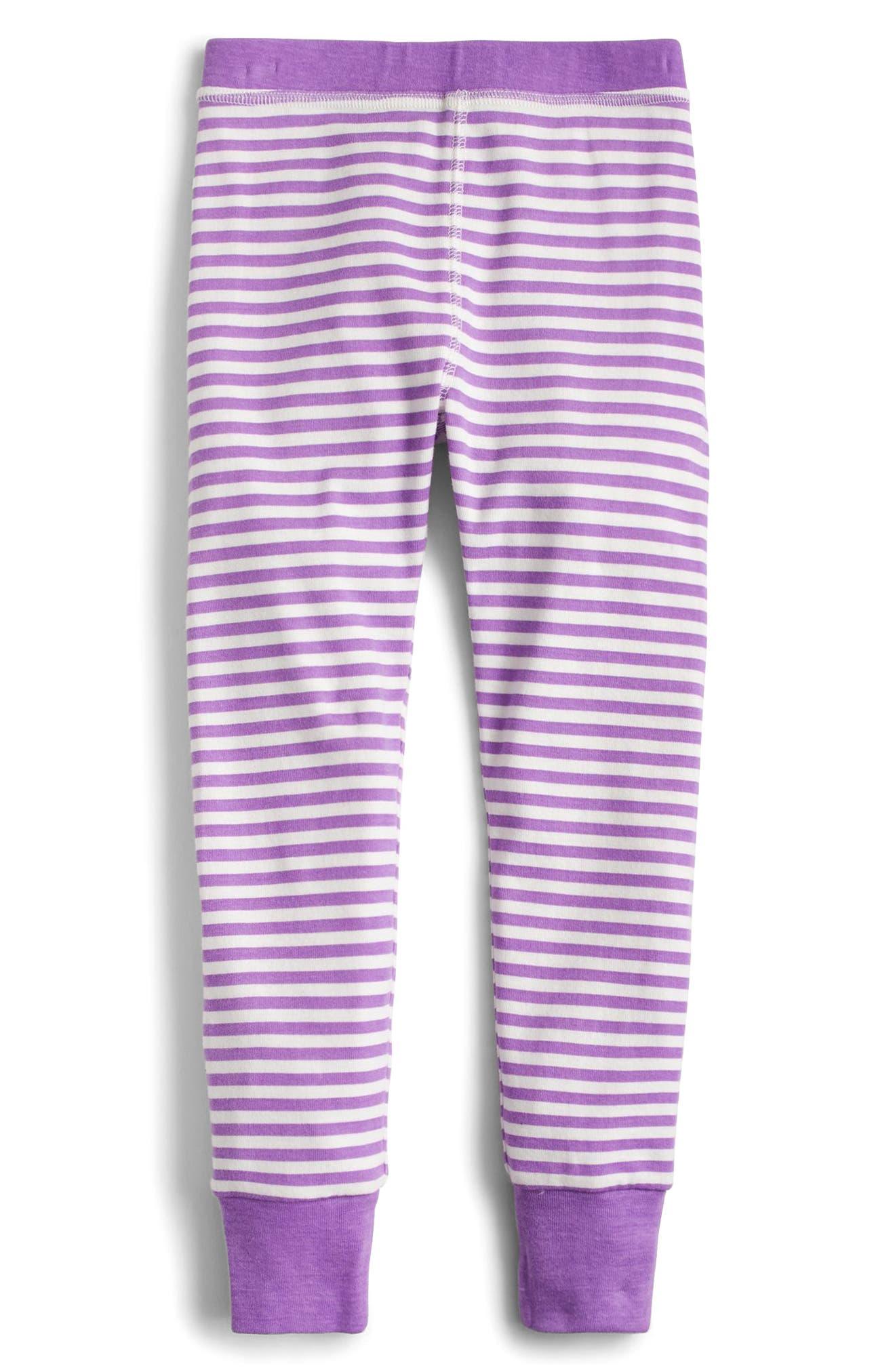 Alternate Image 3  - crewcuts by J.Crew Dot & Stripe Fitted Two-Piece Pajamas (Toddler Girls, Little Girls & Big Girls)