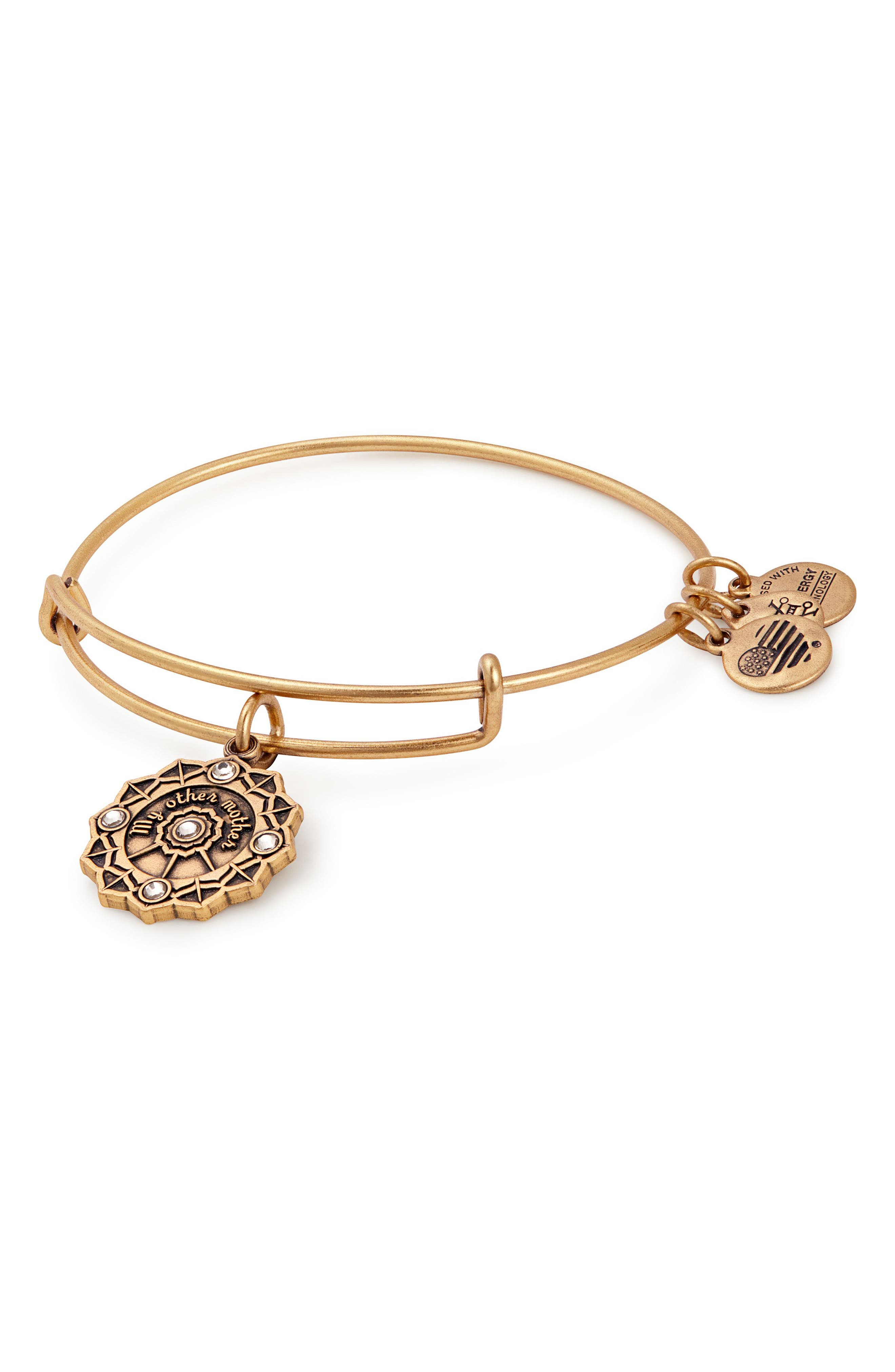 Mother of the Groom Charm Bangle,                             Main thumbnail 1, color,                             Gold