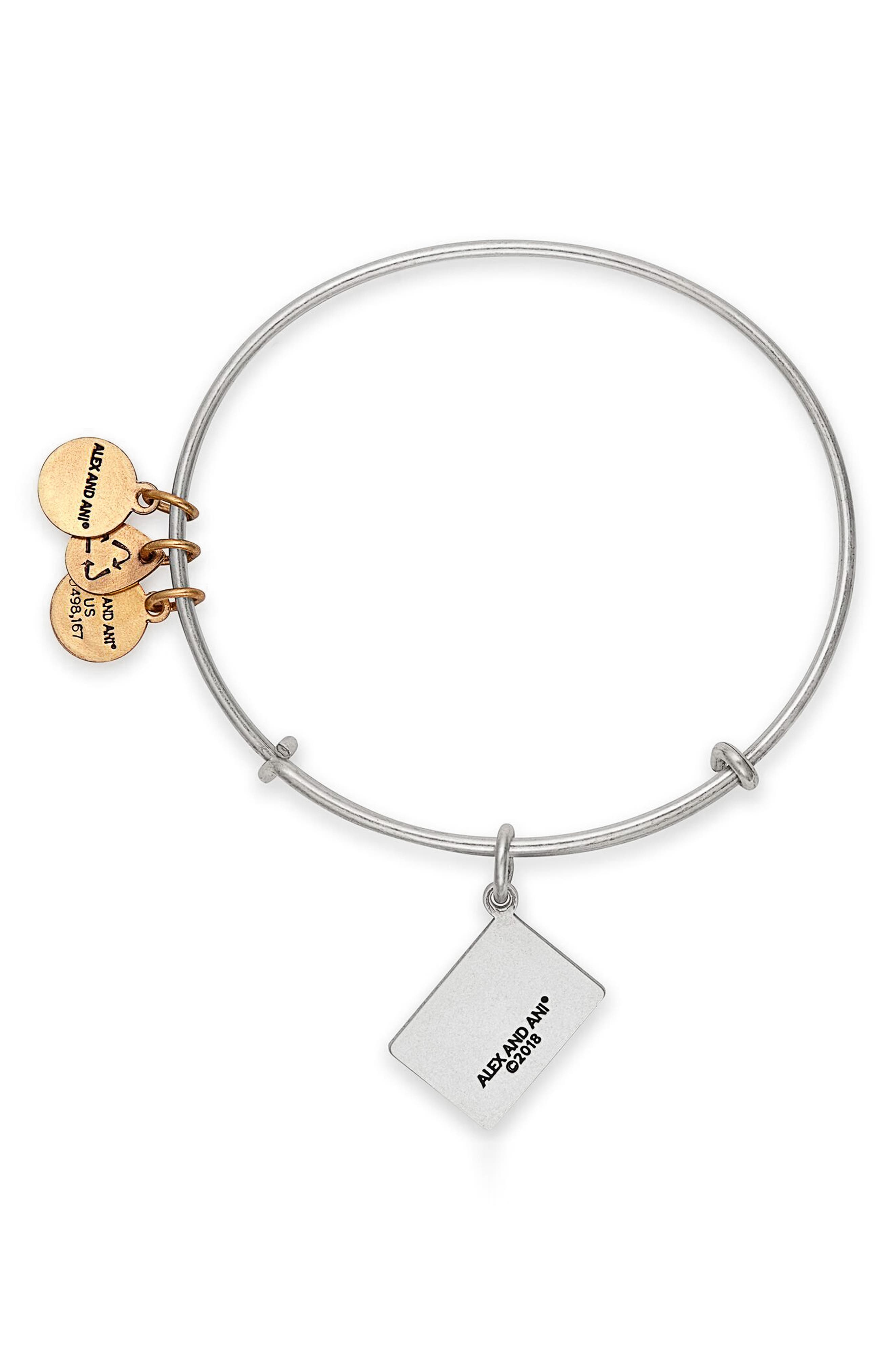 Class of 2018 Charm Bangle,                             Alternate thumbnail 2, color,                             Silver