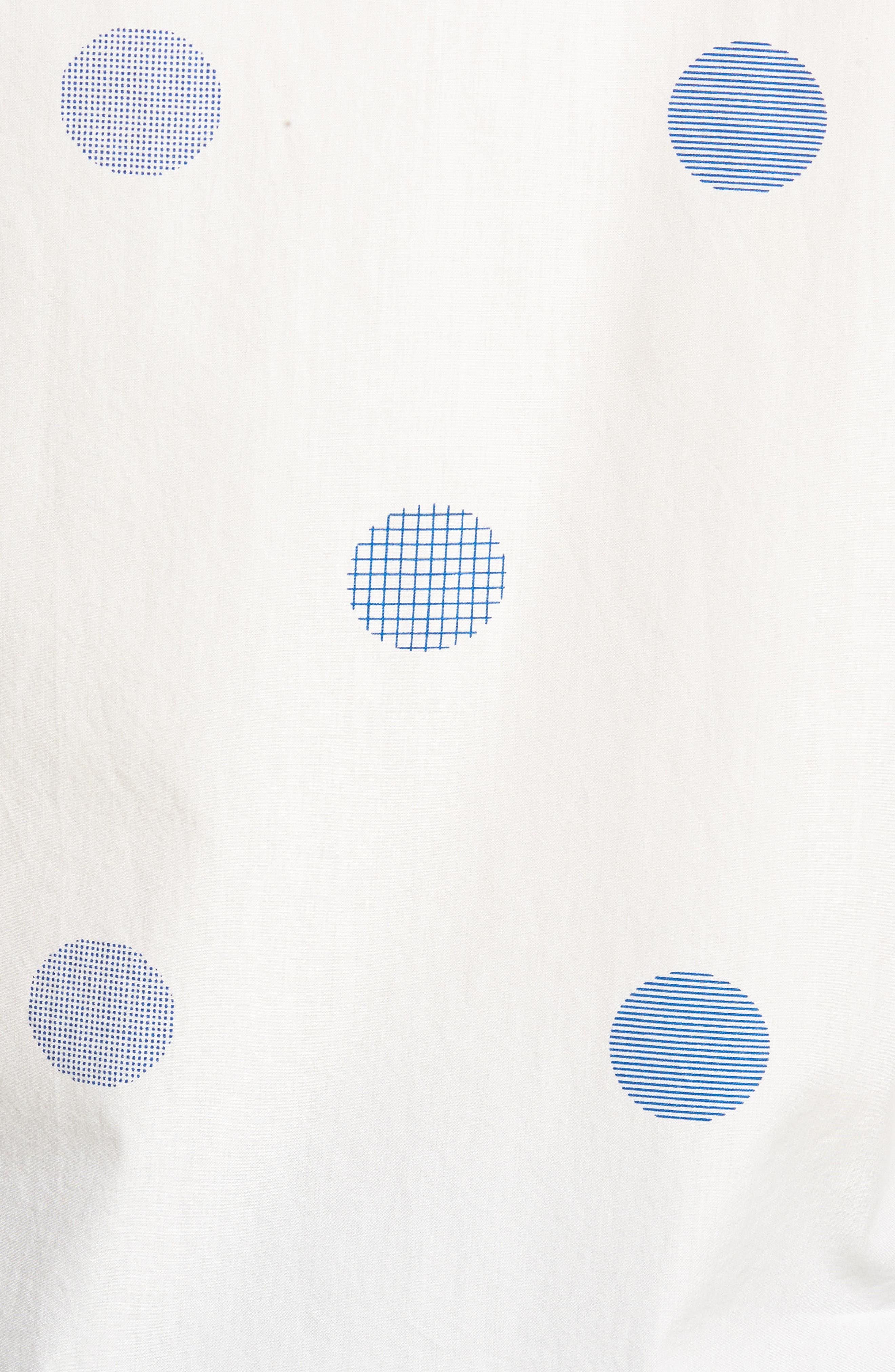 Slim Fit Polka Dot Sport Shirt,                             Alternate thumbnail 5, color,                             Kingston Dot - Maritime Blue