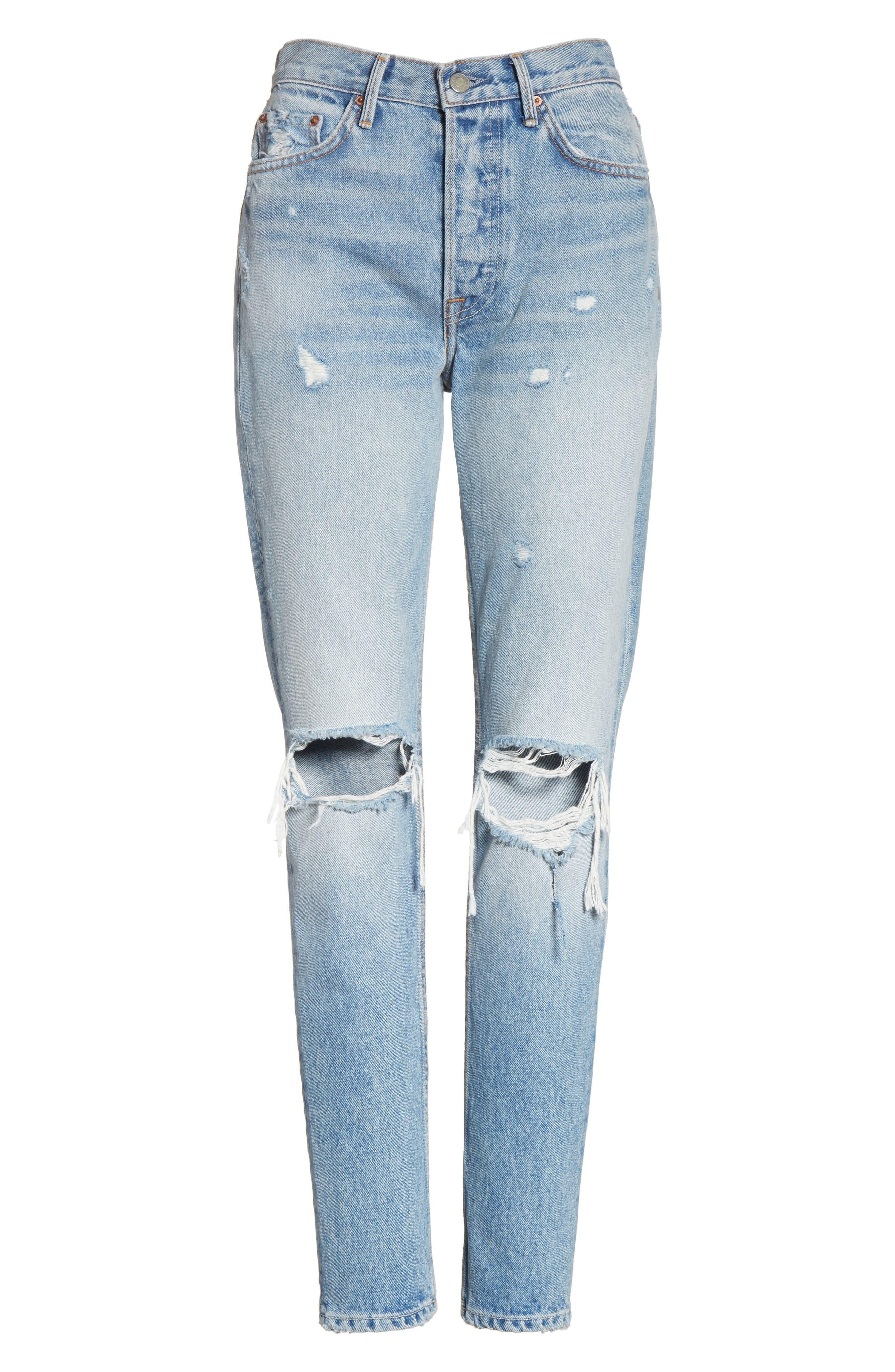 Karolina Ripped Skinny Jeans,                             Alternate thumbnail 5, color,                             Treasure