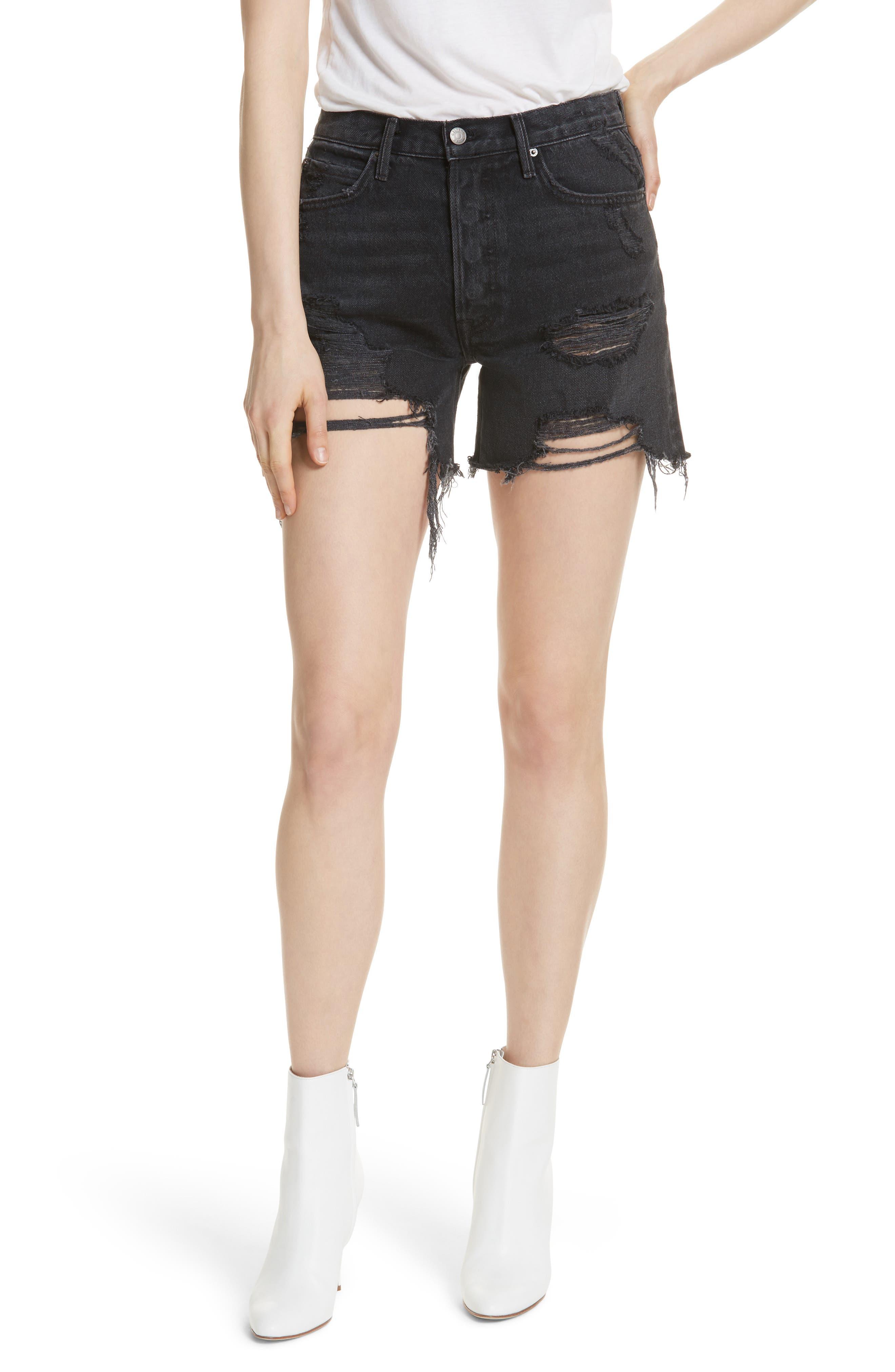 GRLFRND Jourdan Denim Shorts (Debauched)