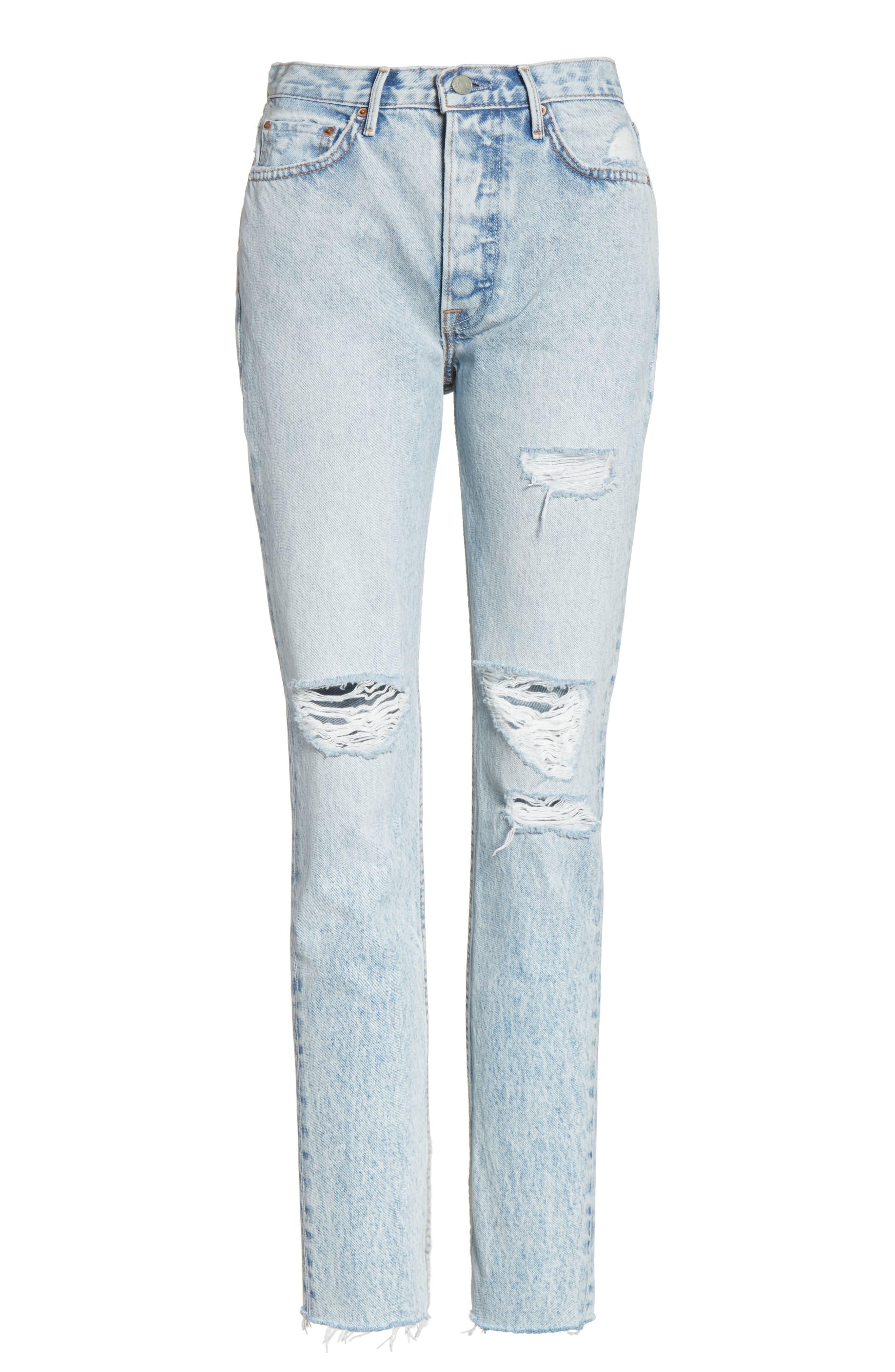 Karolina Ripped Skinny Jeans,                             Alternate thumbnail 6, color,                             Reactive