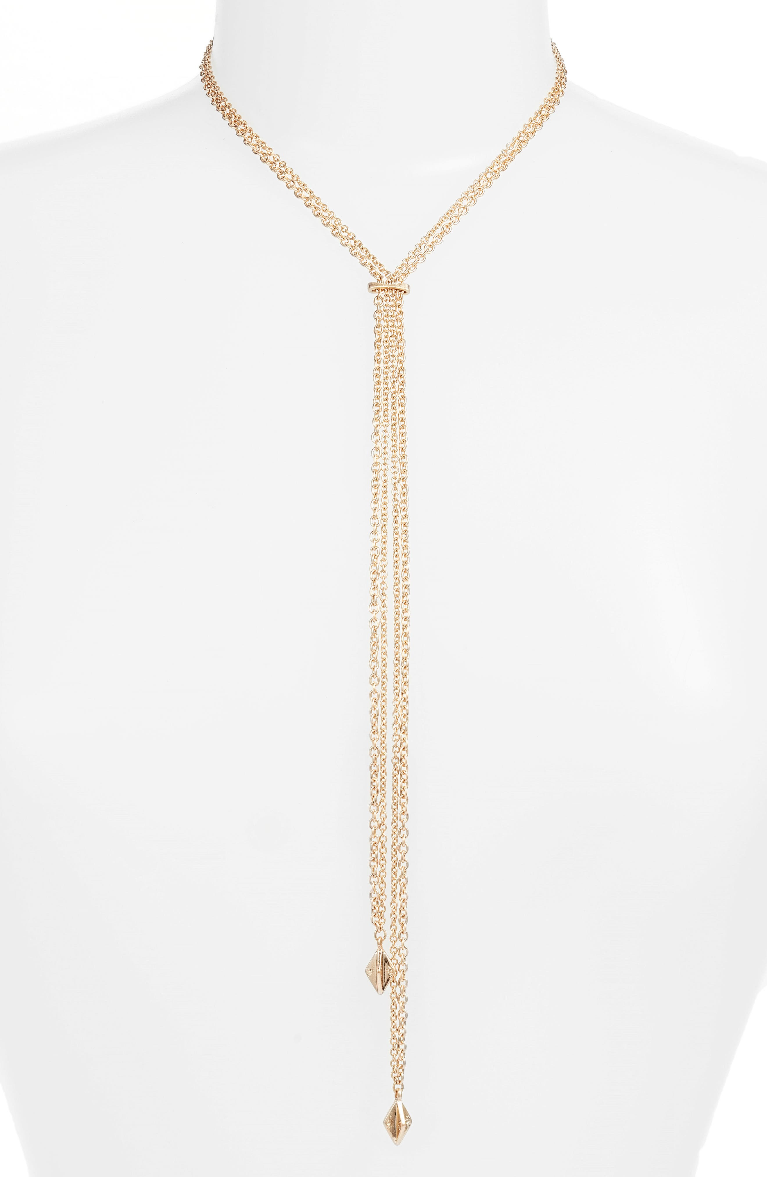 Treasure & Bond Drape Chain Y-Necklace