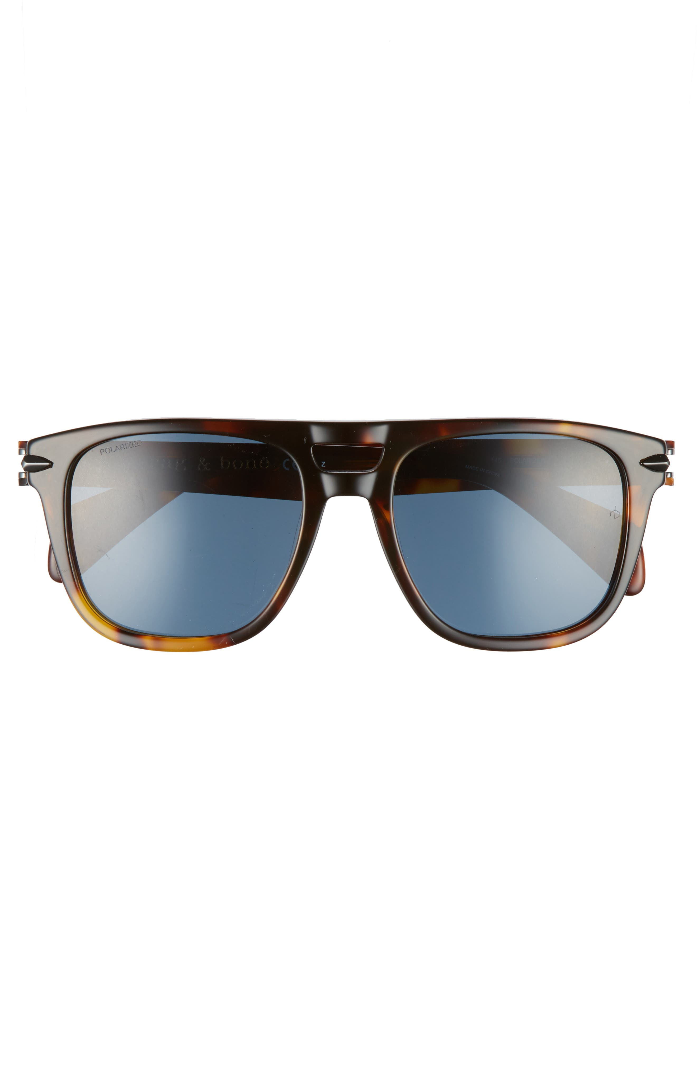53mm Polarized Sunglasses,                             Alternate thumbnail 2, color,                             Dark Havana Polar