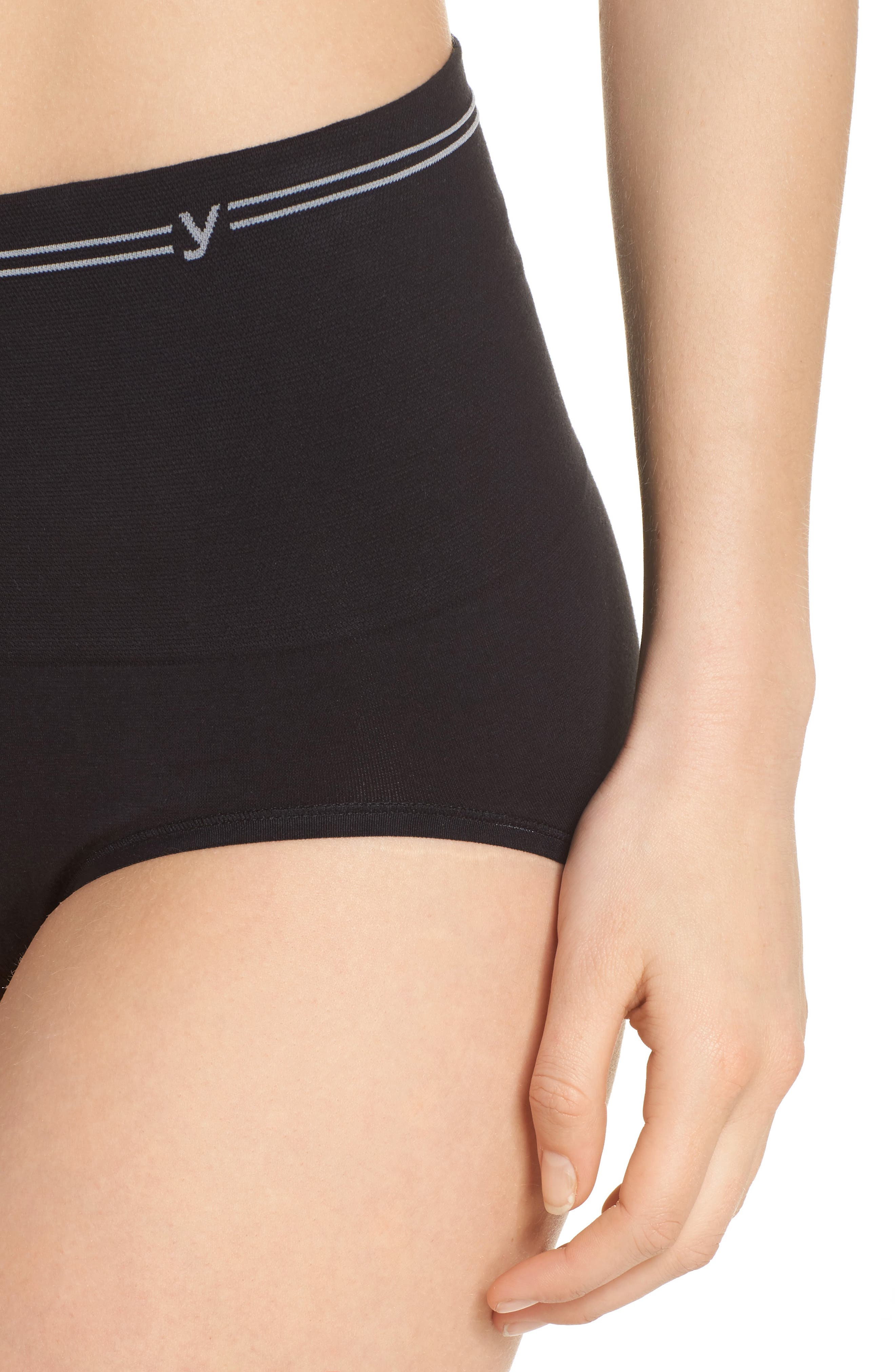 Seamless Shaping Briefs,                             Alternate thumbnail 8, color,                             Black