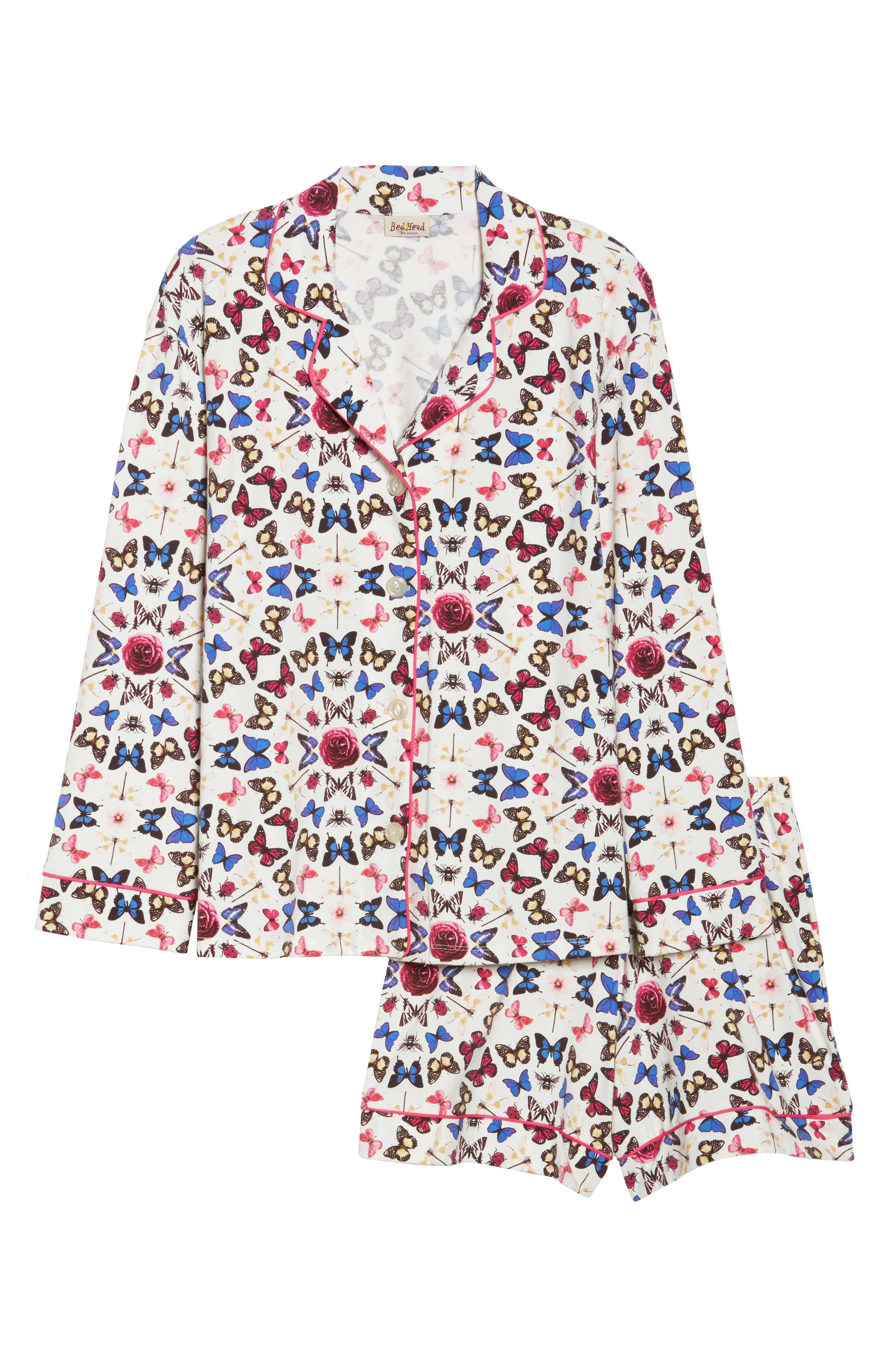 Rouge Short Pajamas,                             Alternate thumbnail 4, color,                             Butterfly Print