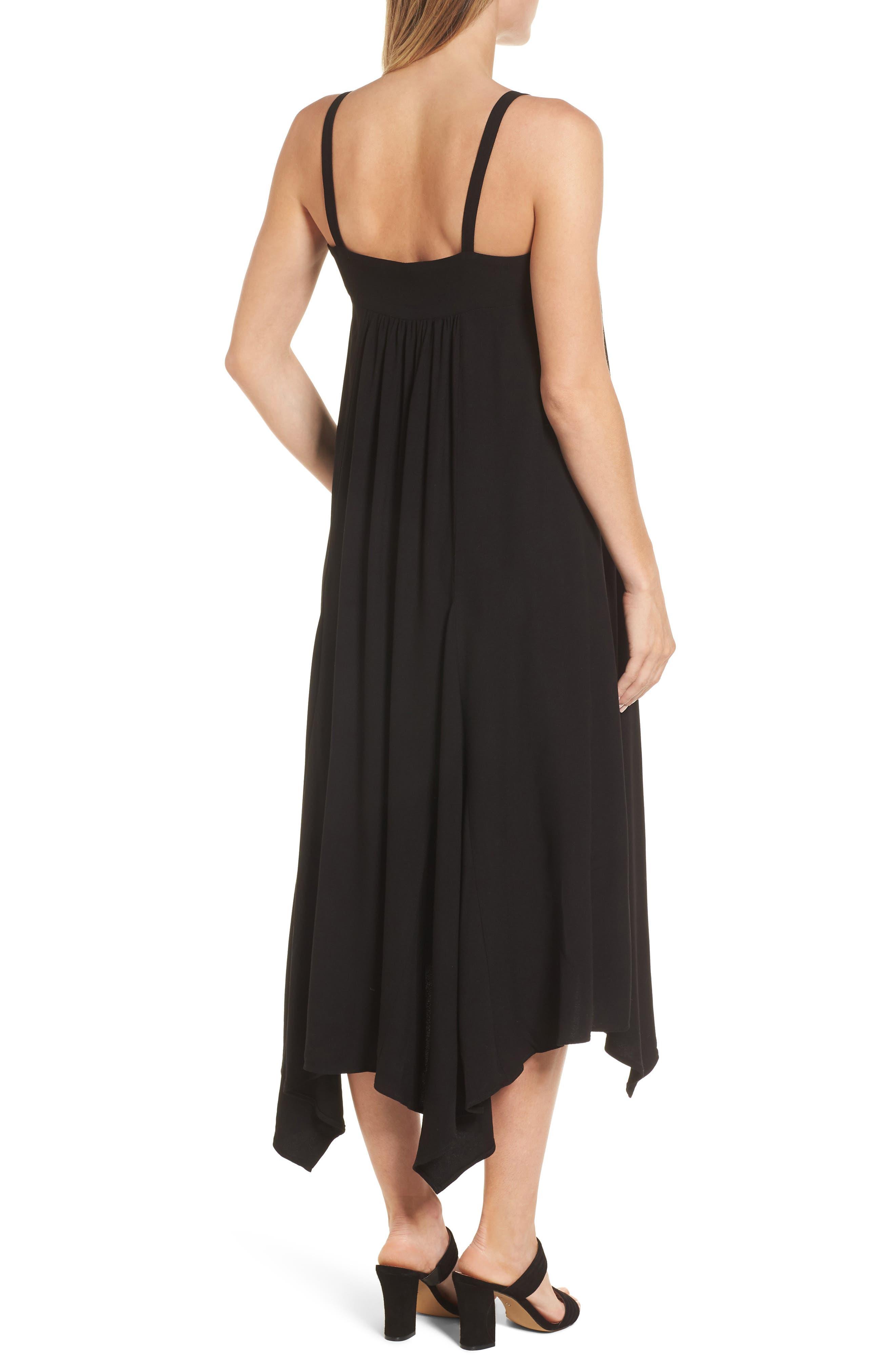 Carey Handkerchief Hem Maternity Dress,                             Alternate thumbnail 2, color,                             Caviar Black