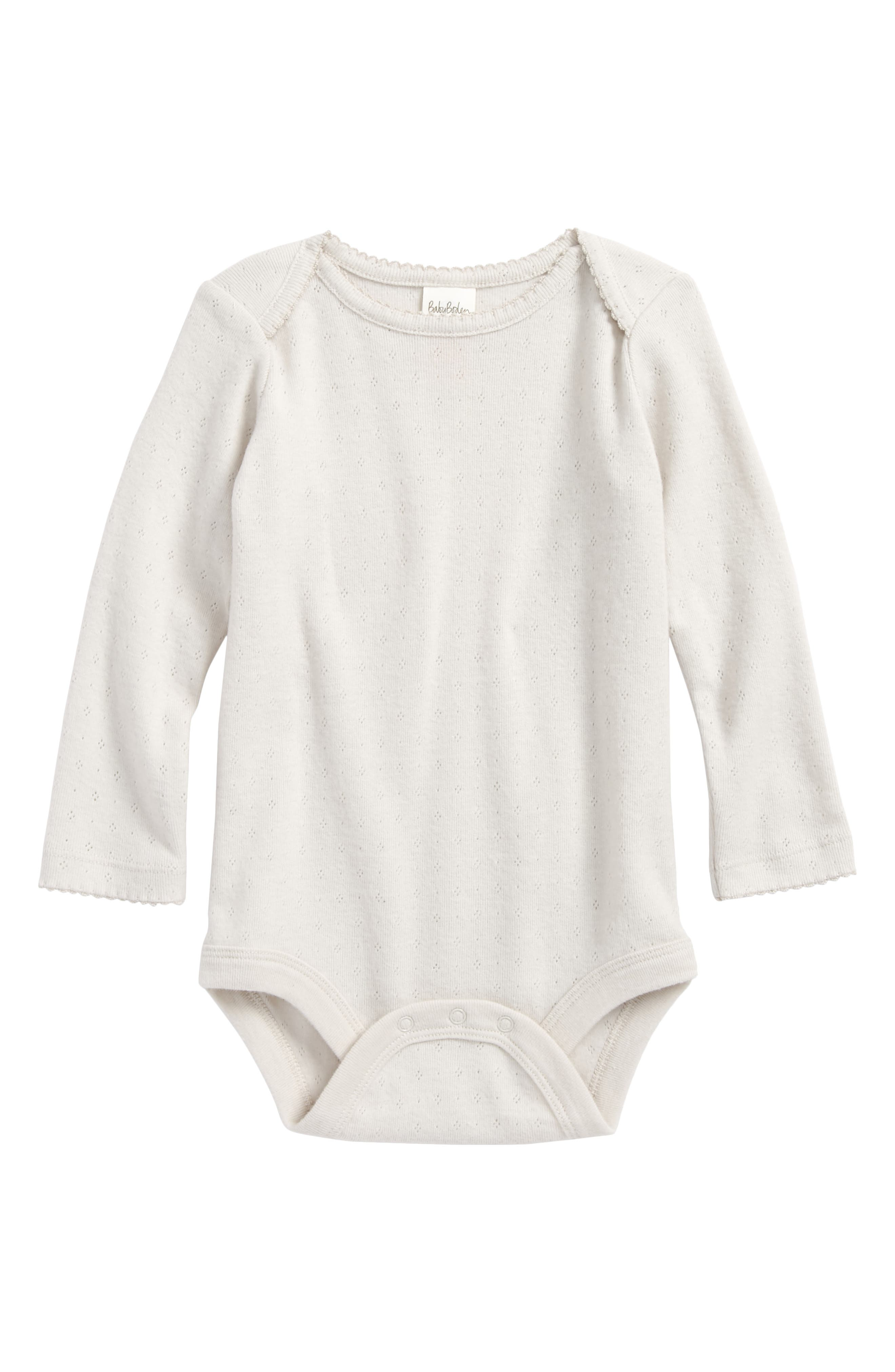 Supersoft Pointelle Bodysuit,                         Main,                         color, Grey Marl