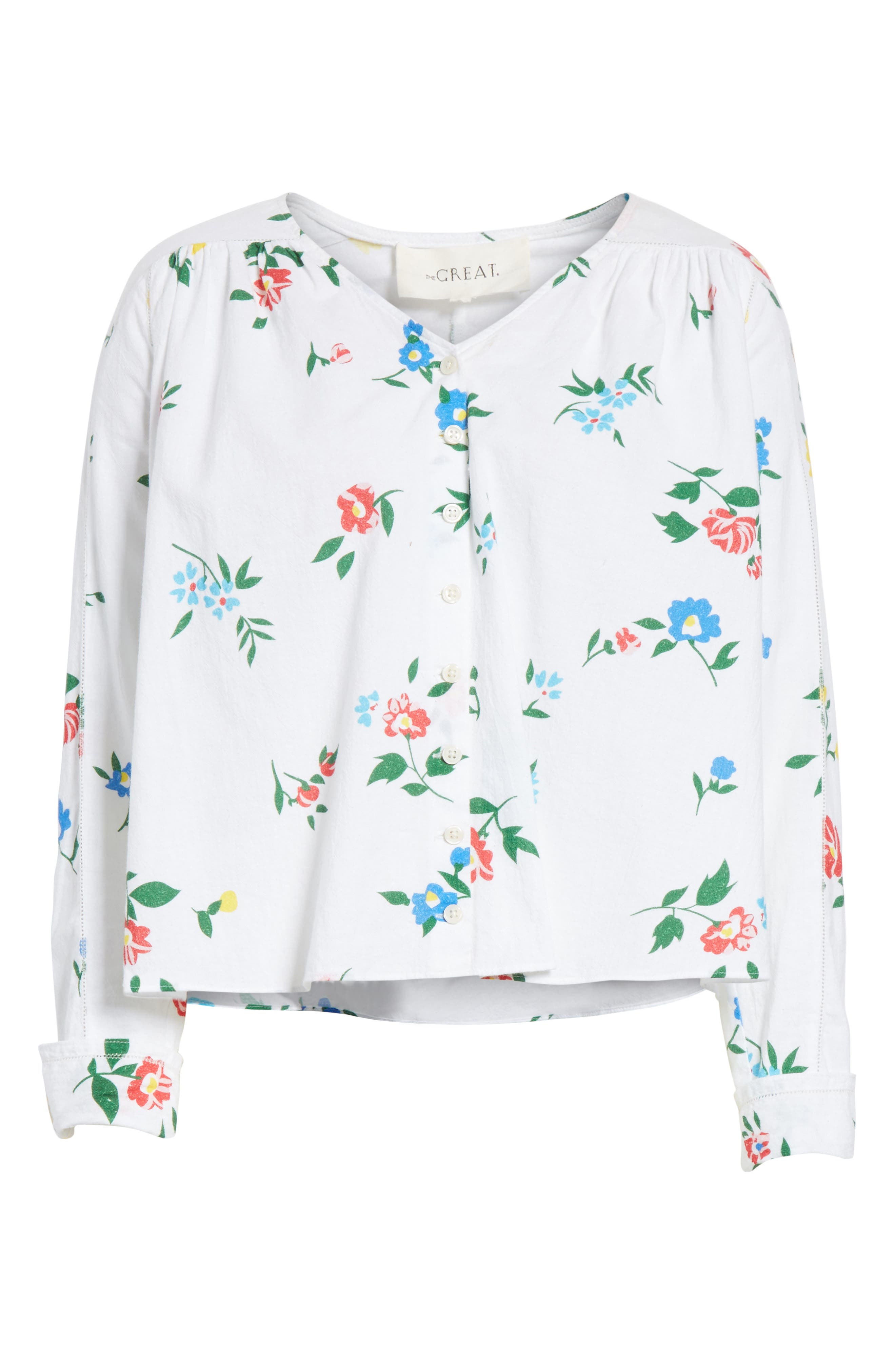The Boutonniere Top,                             Alternate thumbnail 7, color,                             Western Wallflower Print