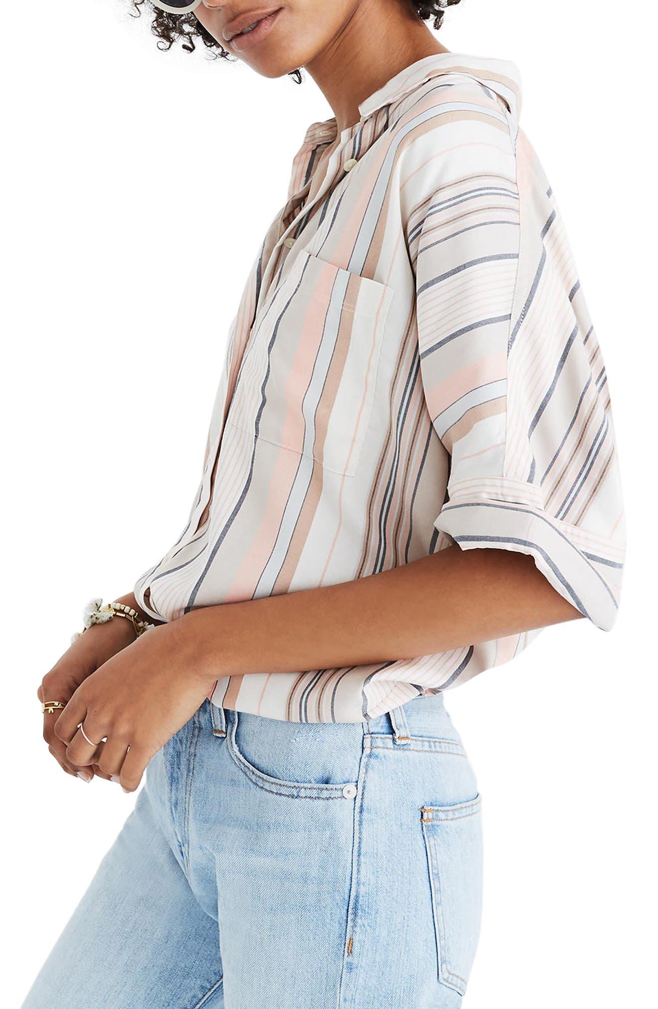 Courier Stripe Shirt,                             Alternate thumbnail 3, color,                             Jumpsuit Spripe
