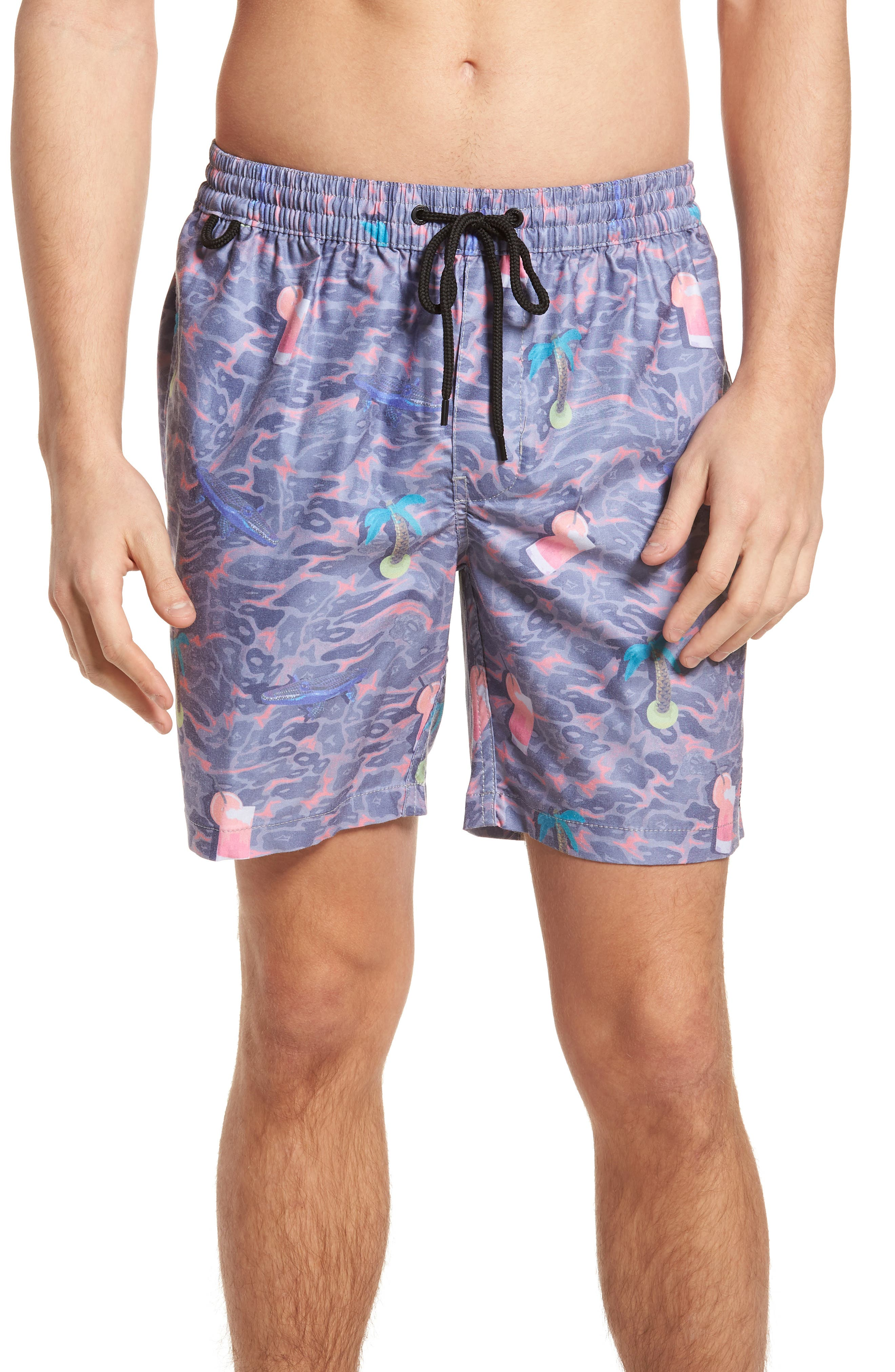 Deep End Pool Shorts,                         Main,                         color, Dusty Coral