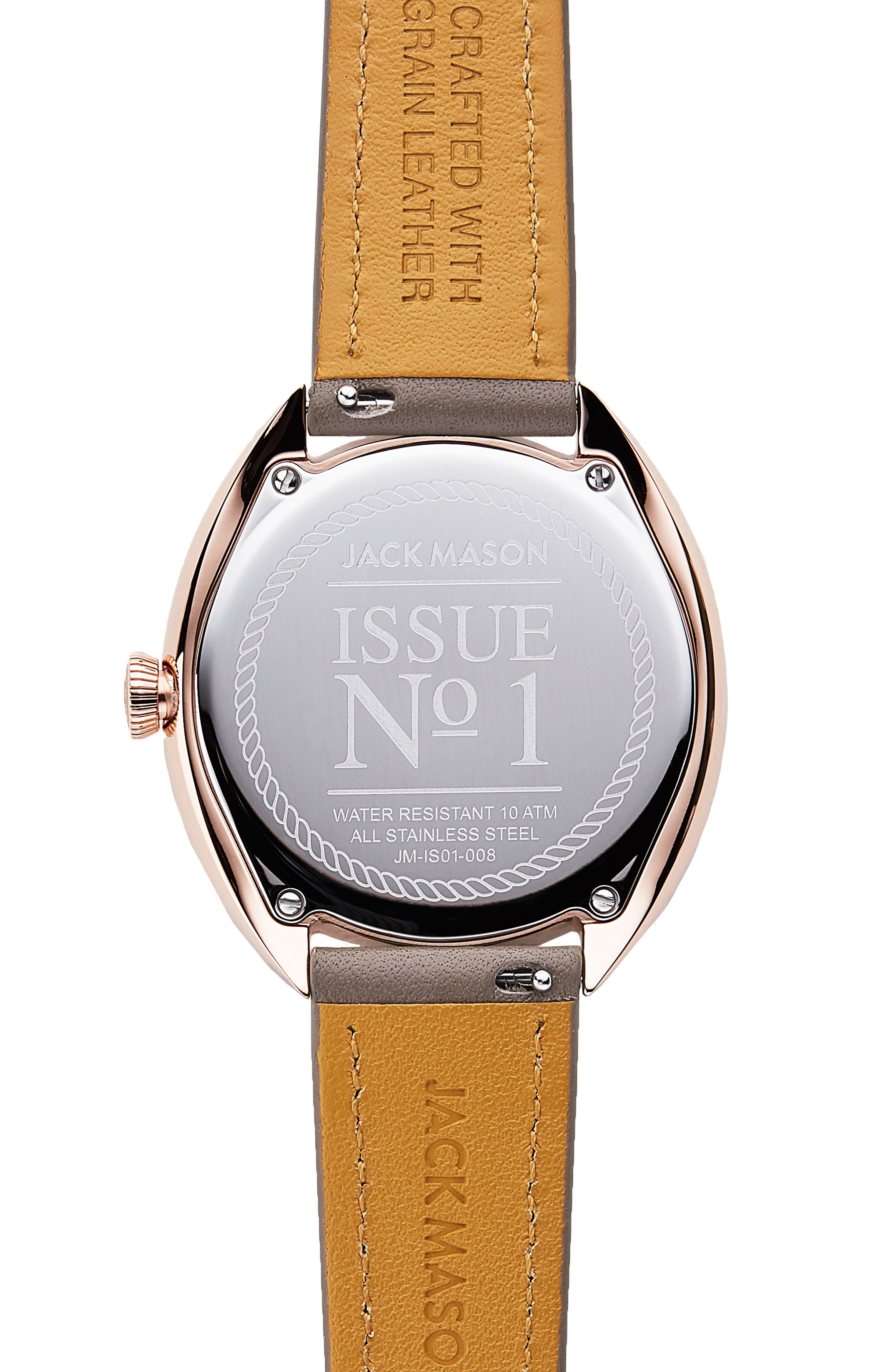 Issue No. 1 Leather Strap Watch, 41mm,                             Alternate thumbnail 3, color,                             Taupe/ Rose Gold