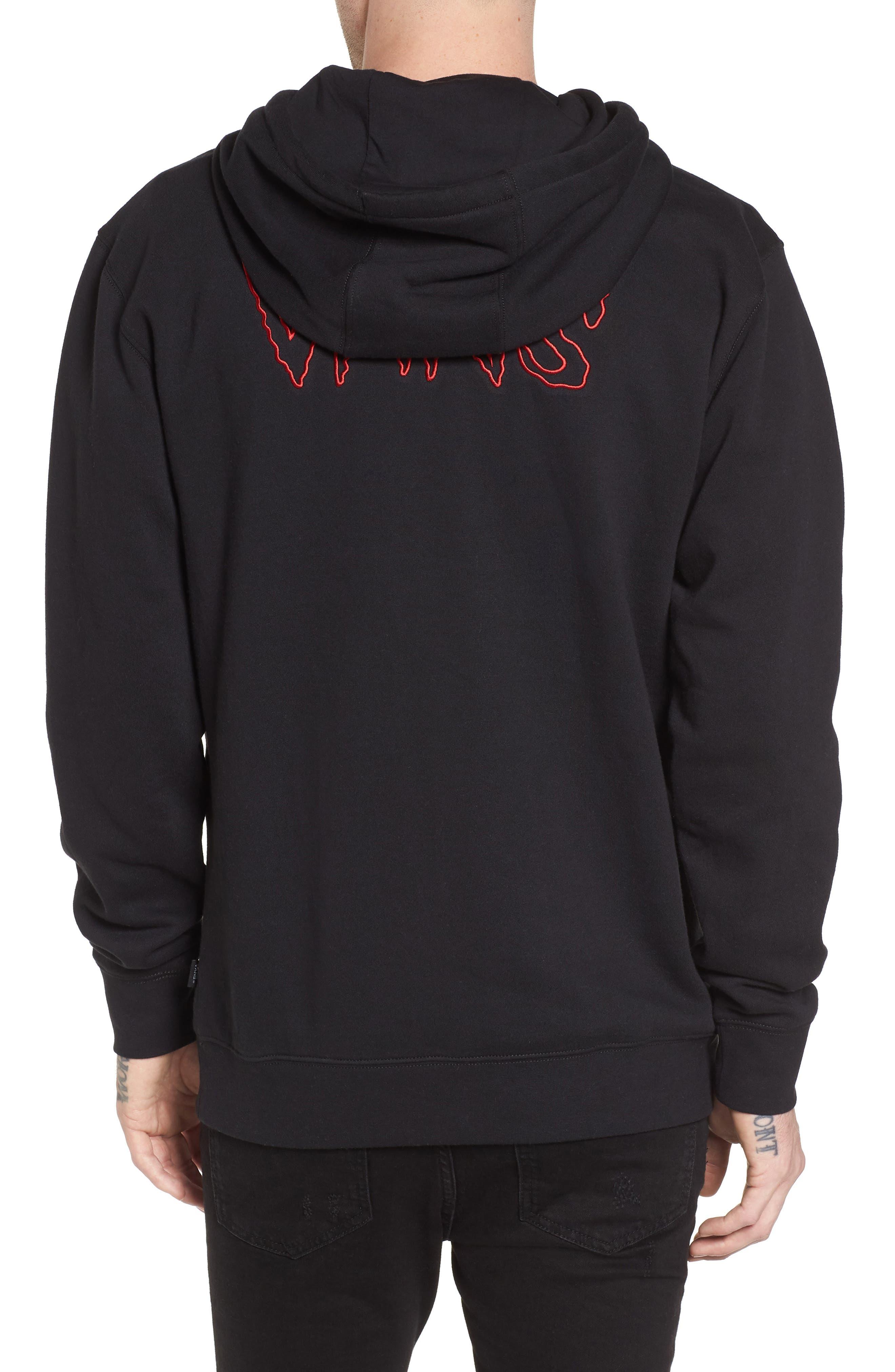 Sketch Tape Hoodie Sweatshirt,                             Alternate thumbnail 2, color,                             Black