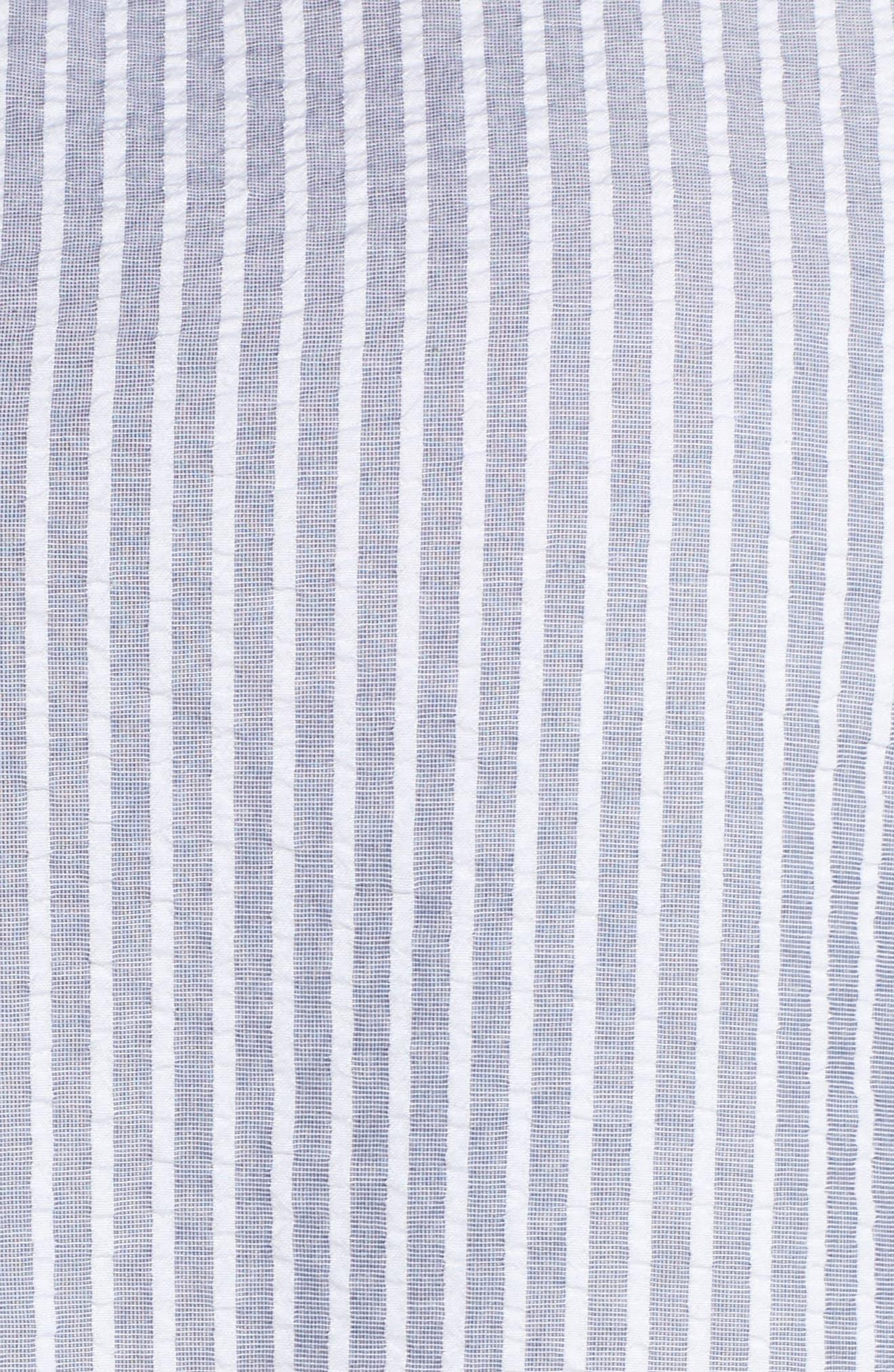 Ticking Stripe Ruffle Top,                             Alternate thumbnail 5, color,                             Multi