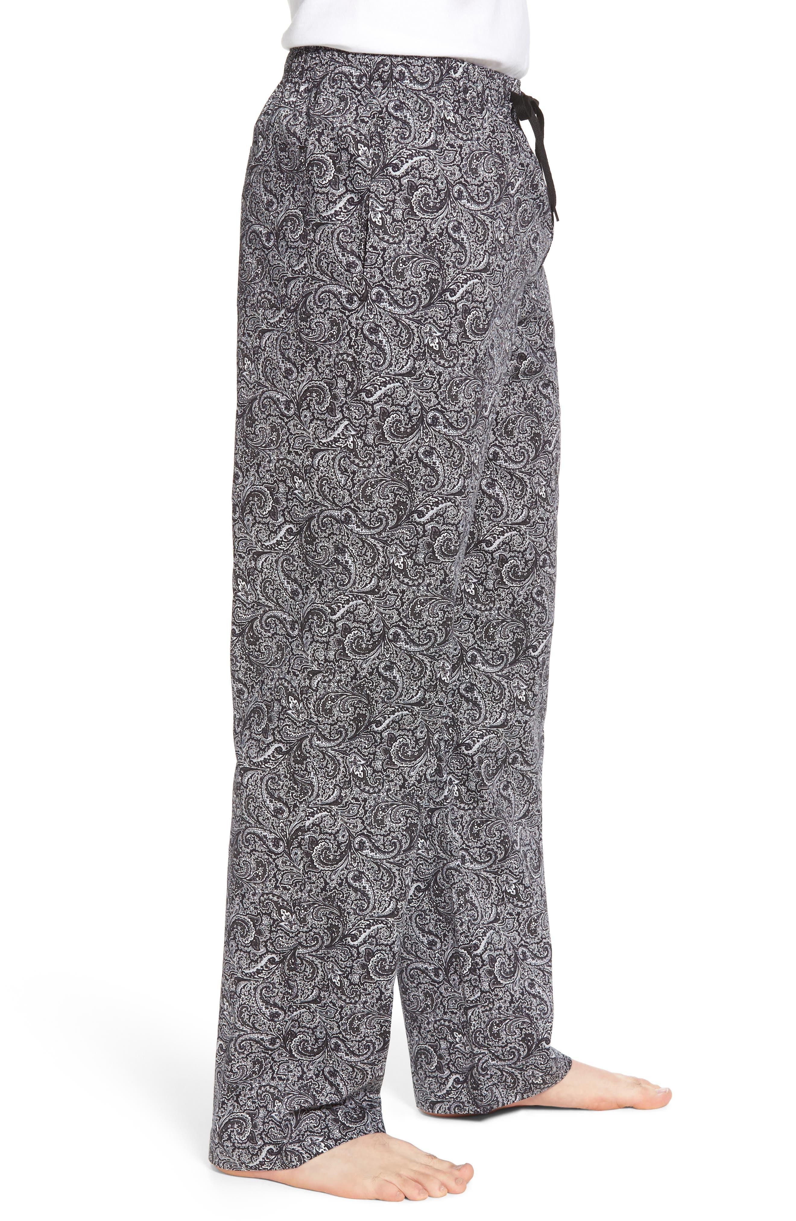 Starling Lounge Pants,                             Alternate thumbnail 3, color,                             Black Paisley