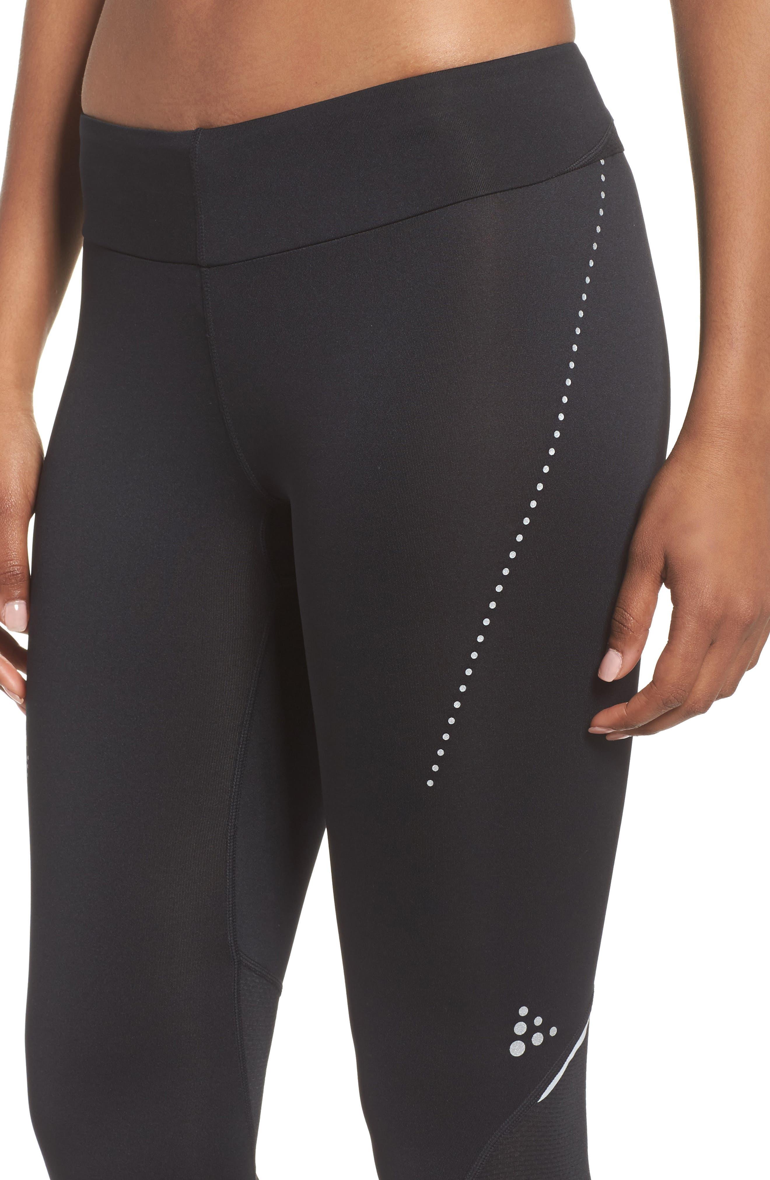 Essential Capri Leggings,                             Alternate thumbnail 4, color,                             Black