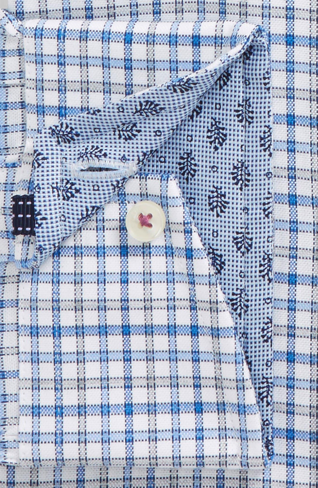 Welsh Trim Fit Check Dress Shirt,                             Alternate thumbnail 2, color,                             Blue