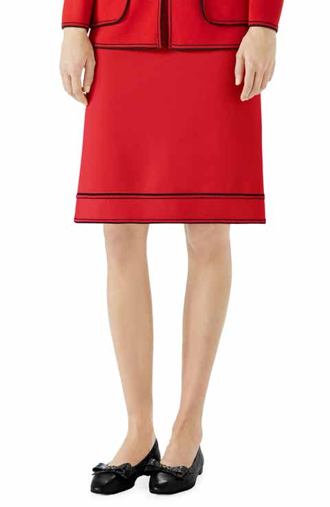 Gucci Wool A-Line Skirt