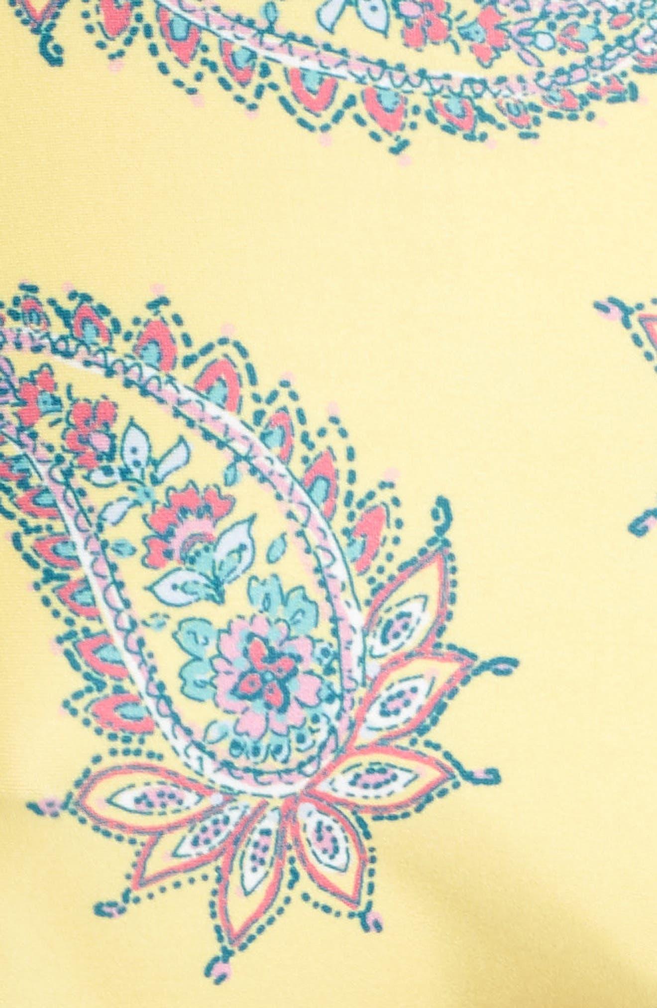 Little Havana Scarf Tie Bikini Bottoms,                             Alternate thumbnail 8, color,                             Yellow Multi