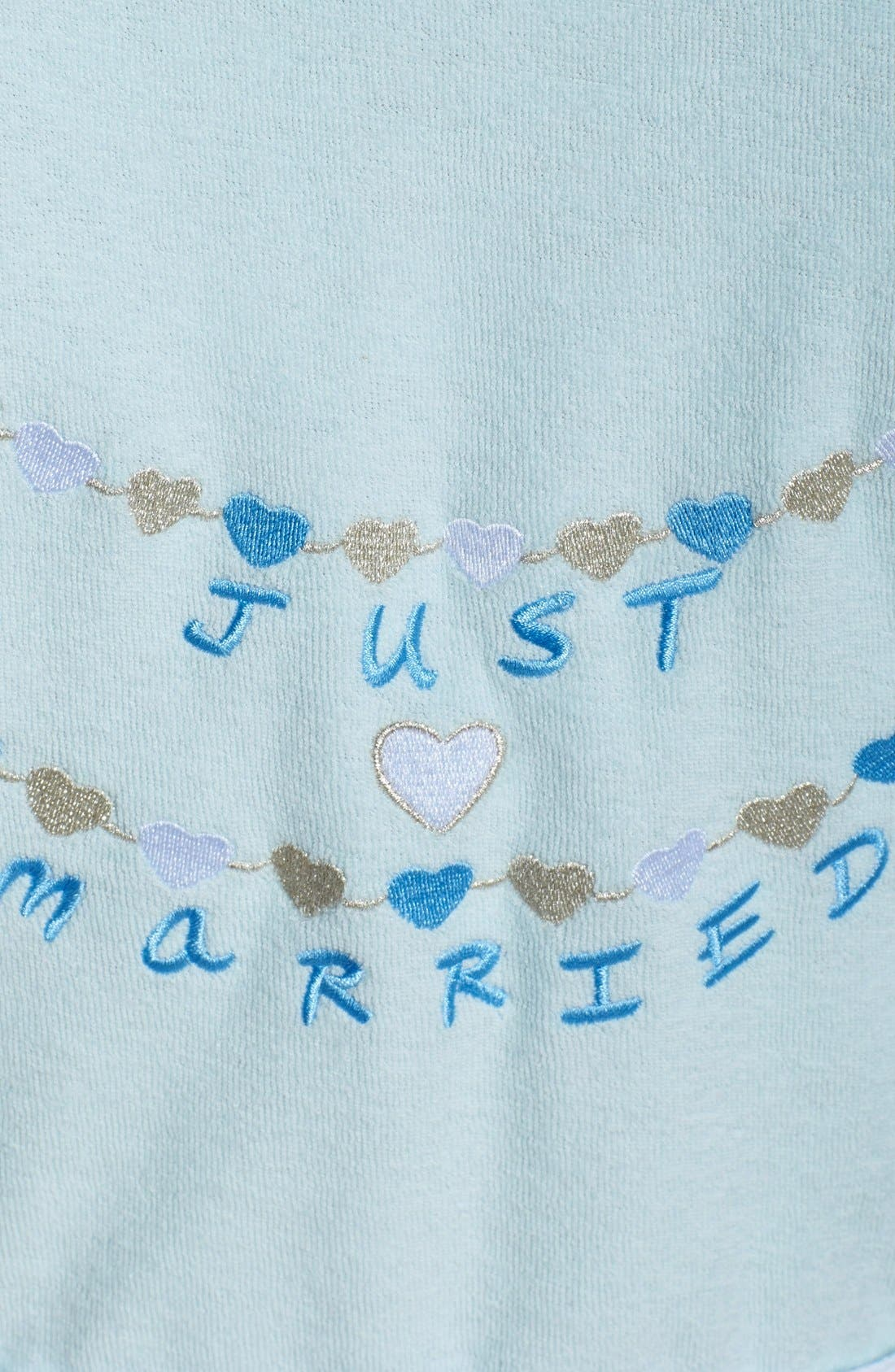 Alternate Image 3  - Betsey Johnson 'Just Married' Baby Terry Bridal Robe