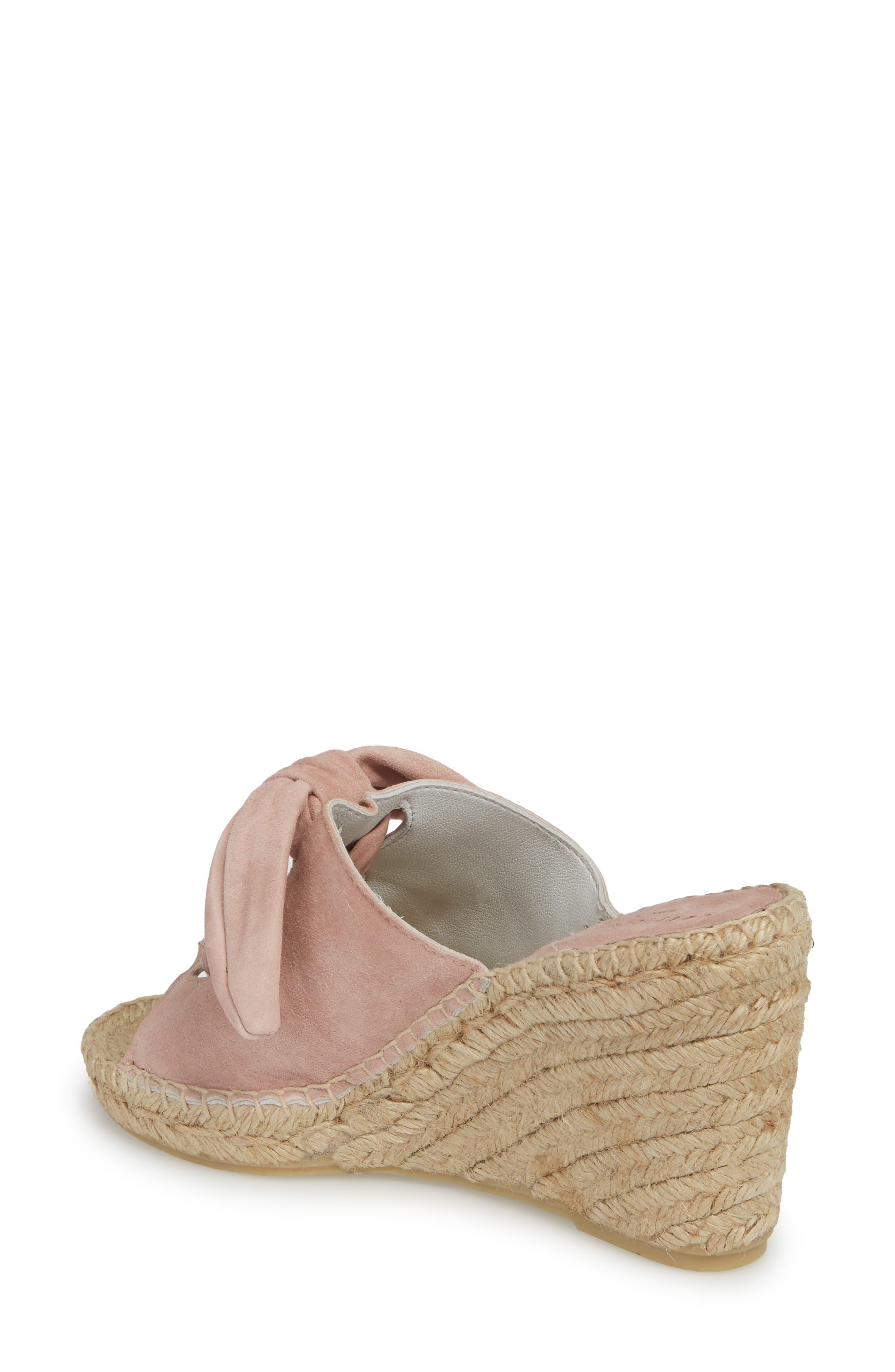 Flirt Espadrille Wedge Sandal,                             Alternate thumbnail 2, color,                             Pink Suede
