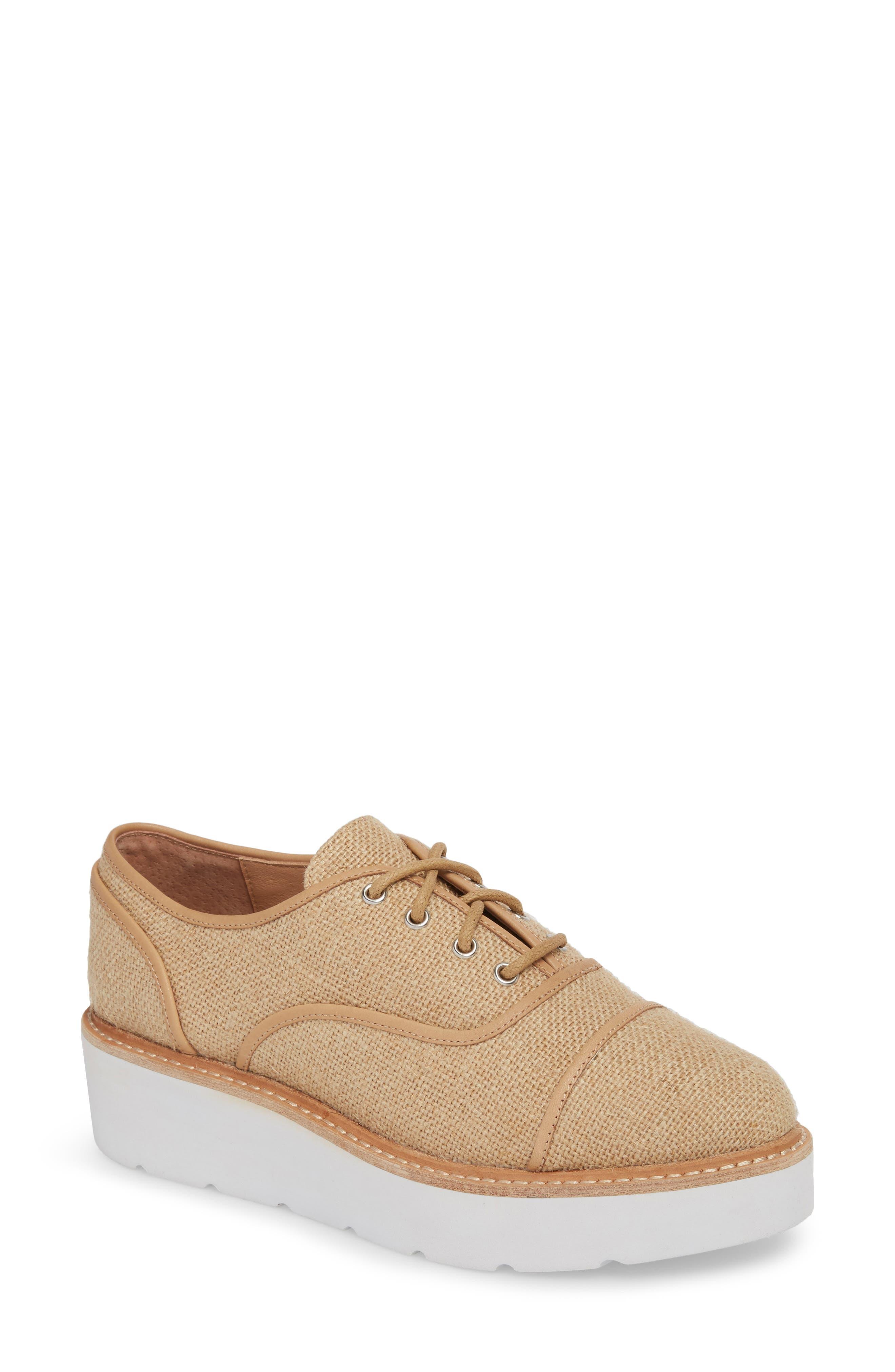 Linea Paolo Mavis Cap Toe Platform Sneaker (Women)