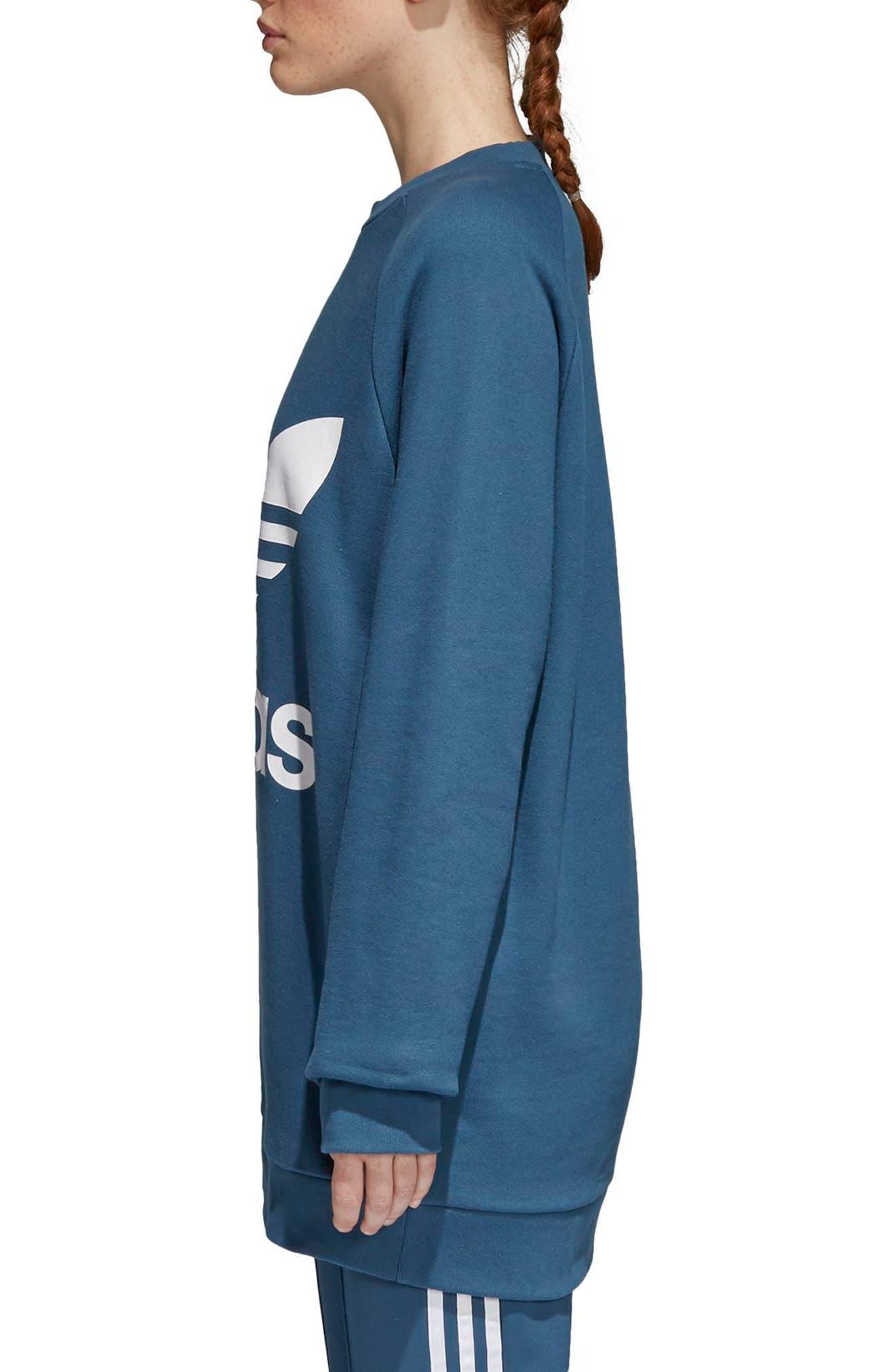 Originals Oversize Sweatshirt,                             Alternate thumbnail 3, color,                             Dark Steel