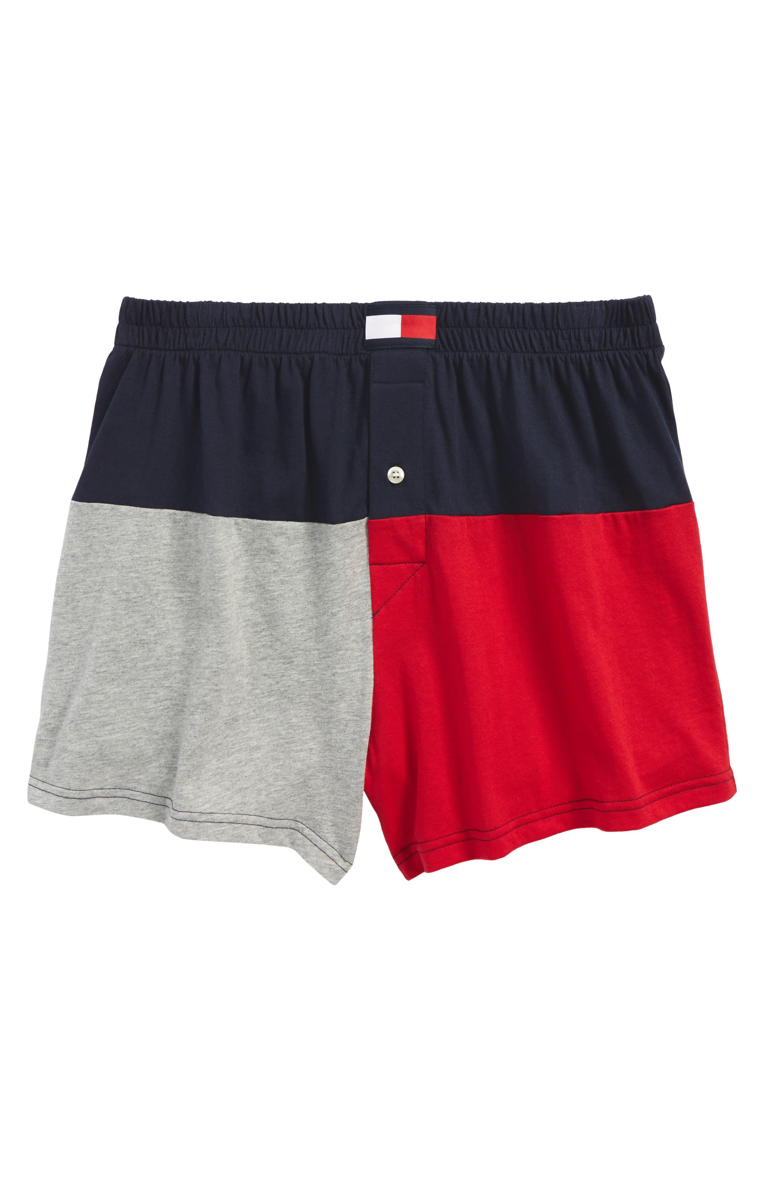 Colorblock Knit Boxers,                         Main,                         color, Dark Navy