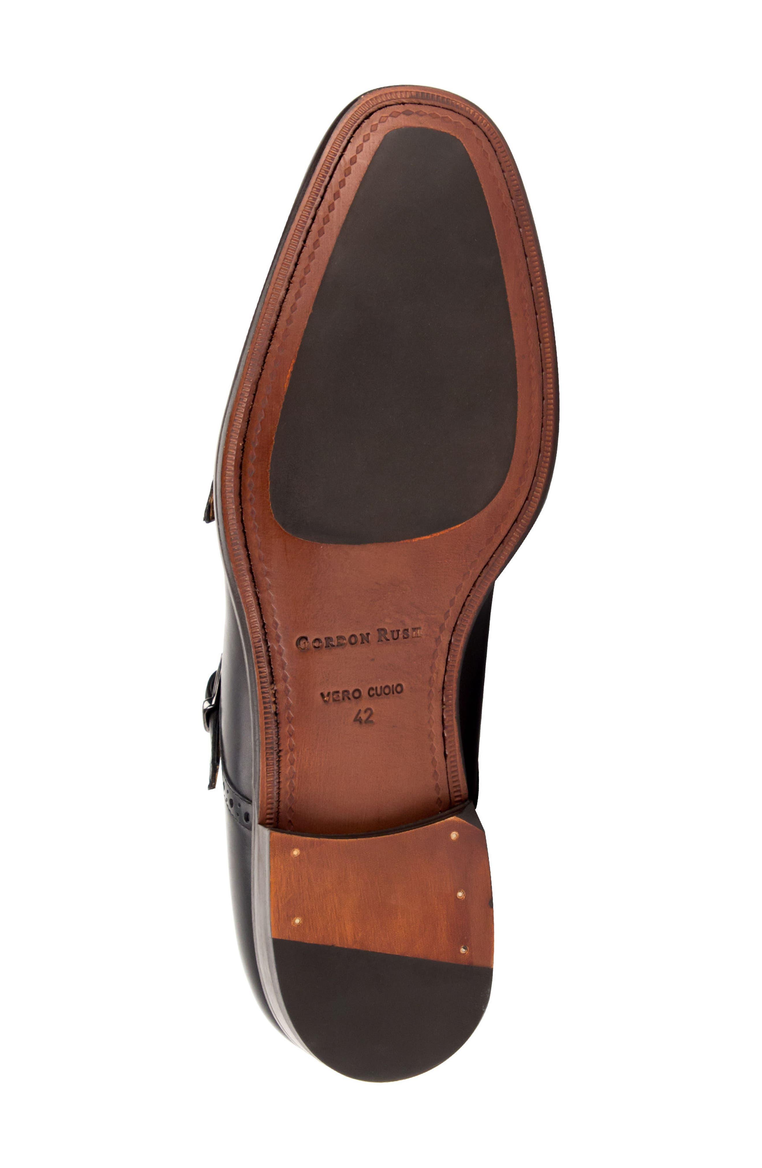 Corbett Cap Toe Double Strap Monk Shoe,                             Alternate thumbnail 6, color,                             Black Leather