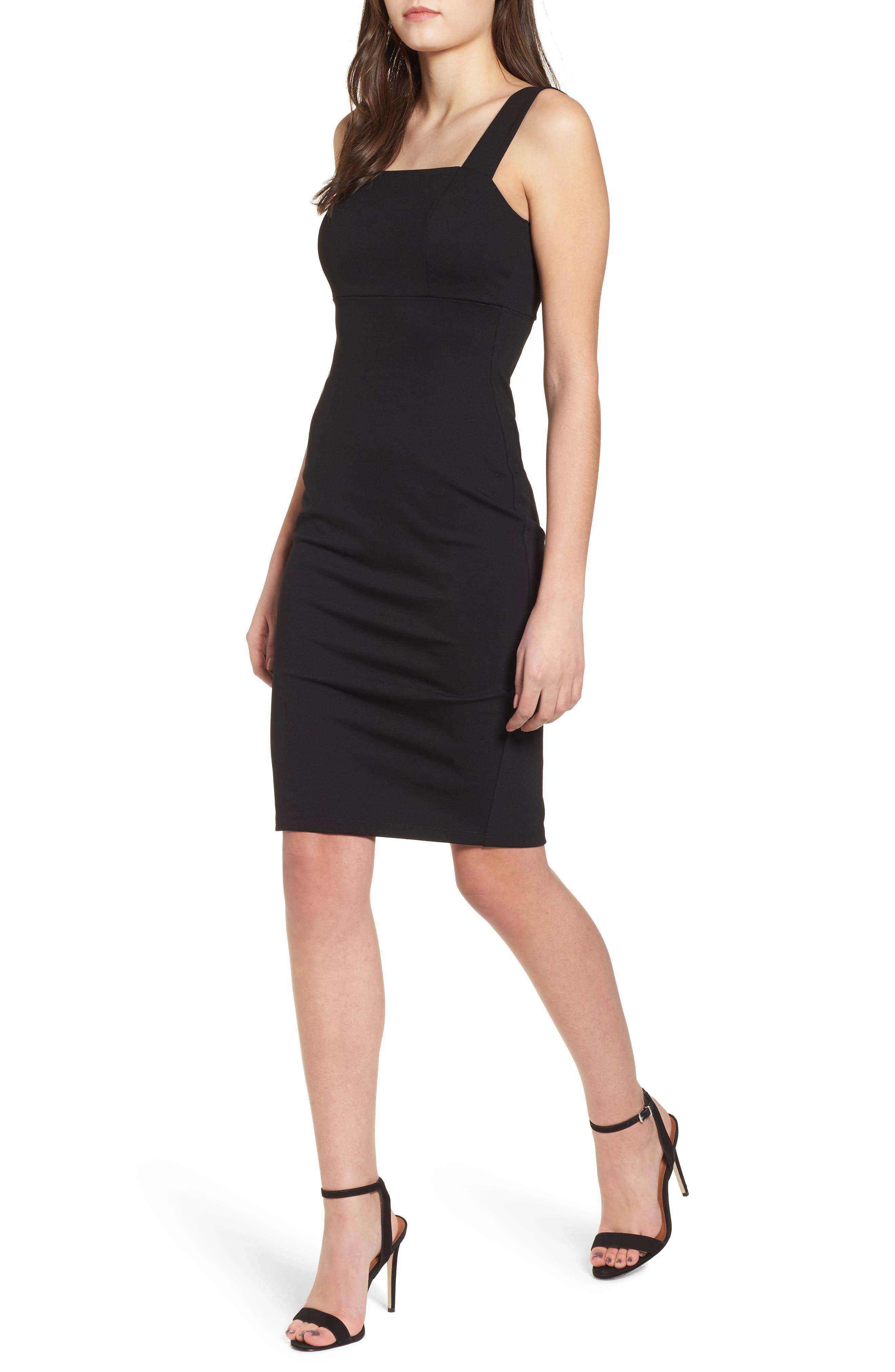 Body-Con Dress,                             Main thumbnail 1, color,                             Black