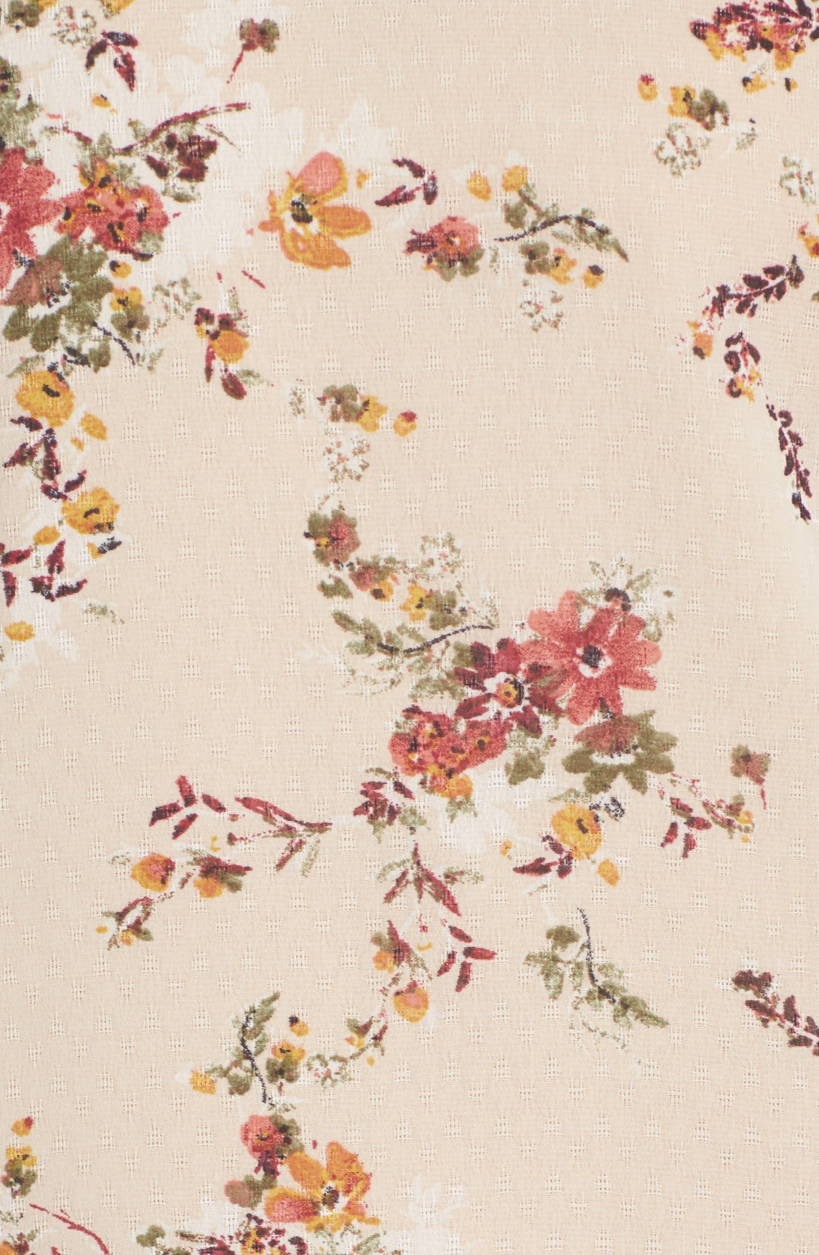 It's Love Floral Off the Shoulder Shift Dress,                             Alternate thumbnail 5, color,                             Crme Vintage Bouquet