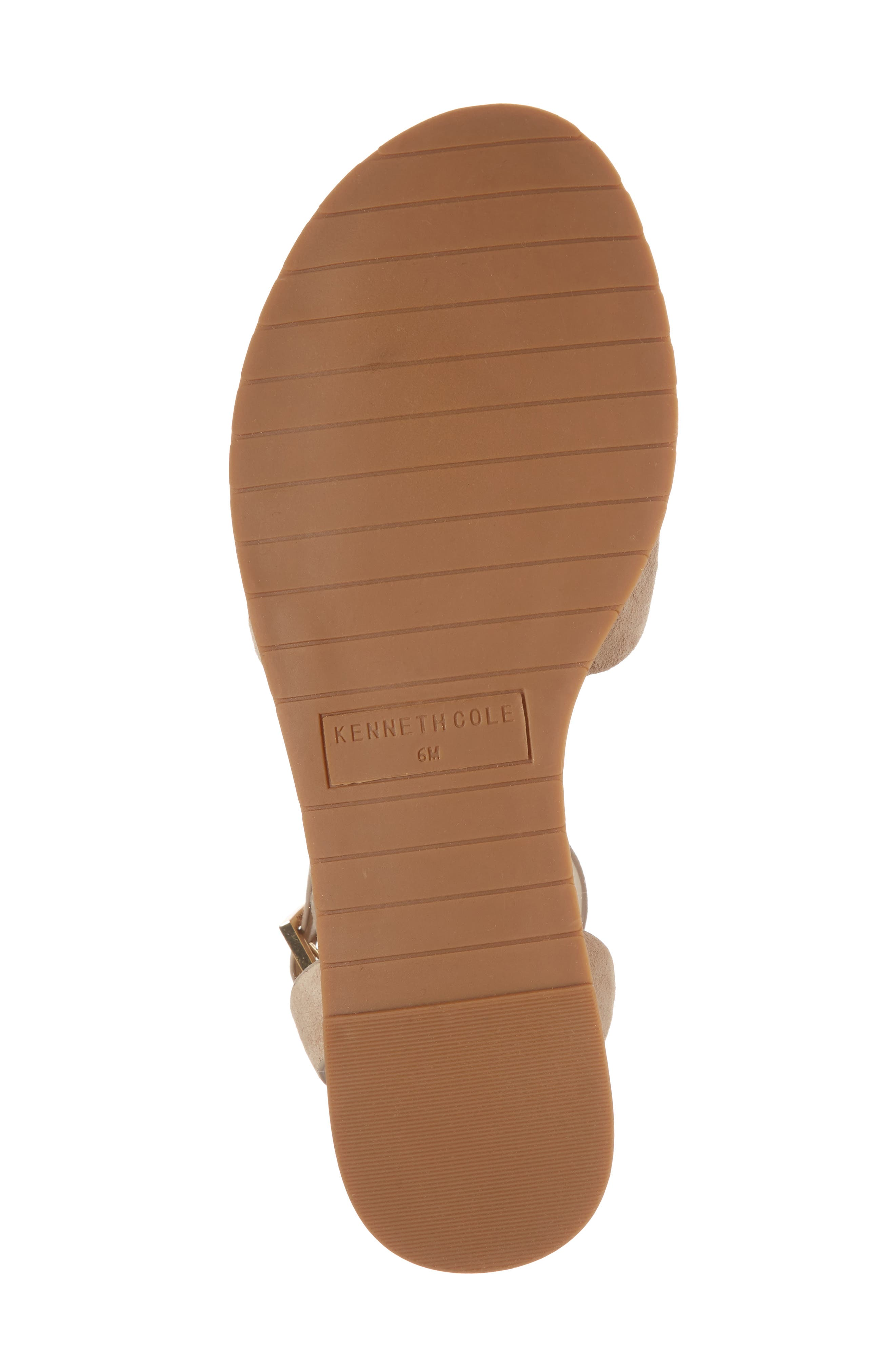Jinny Ankle Strap Sandal,                             Alternate thumbnail 6, color,                             Tan Faux Suede