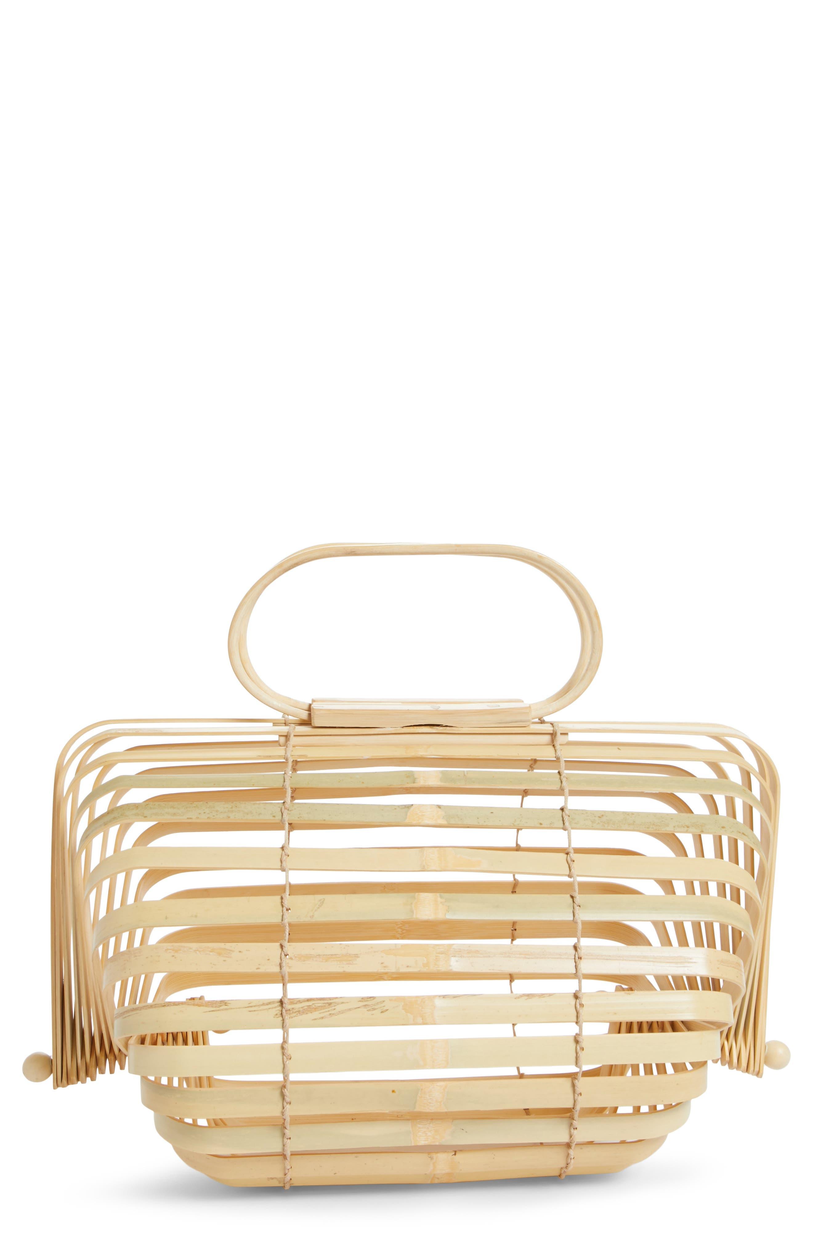The Lilleth Bamboo Handbag,                         Main,                         color, Natural