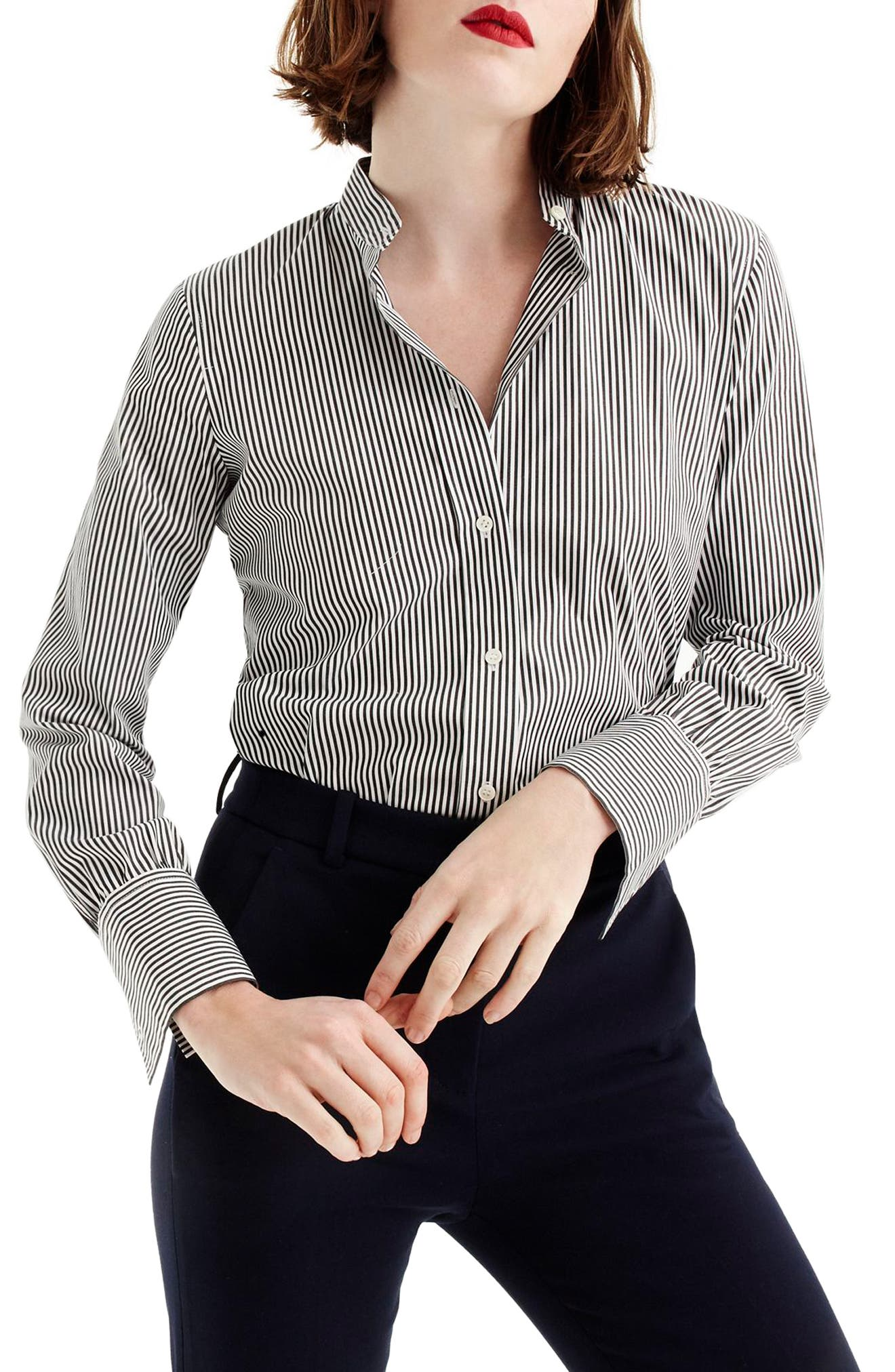 Perfect Stripe Stretch Bodysuit,                         Main,                         color, Black