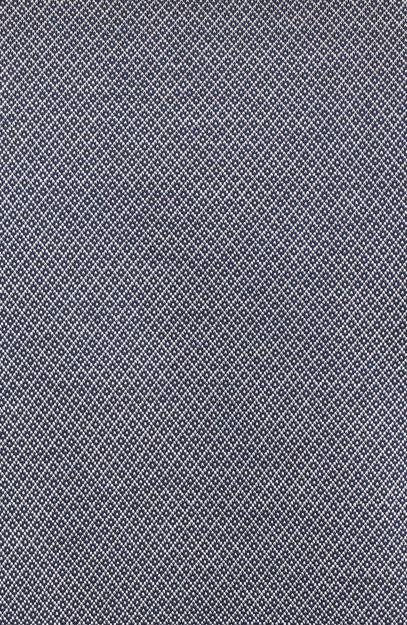Mercerized Cotton Jacquard Polo,                             Alternate thumbnail 5, color,                             Navy