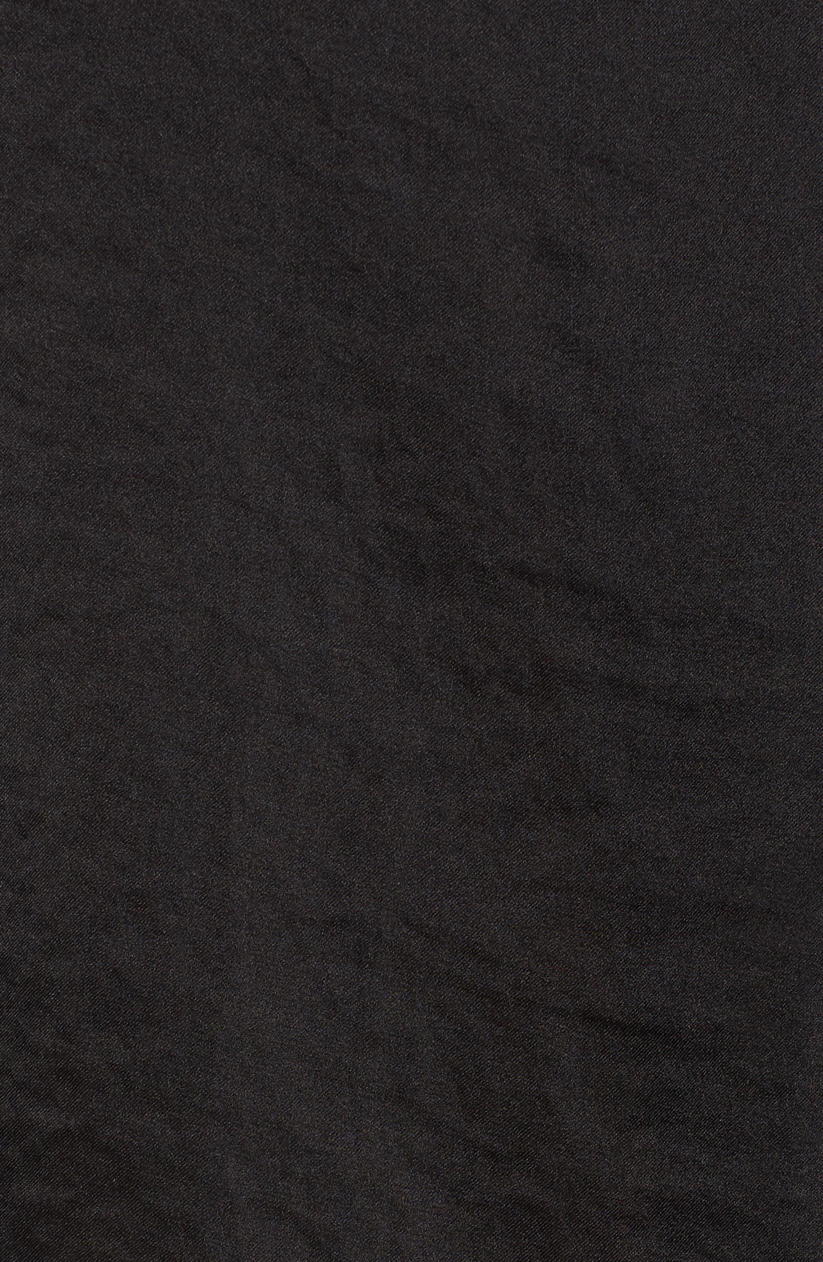 Crinkle Long Sleeve Blouse,                             Alternate thumbnail 6, color,                             Black